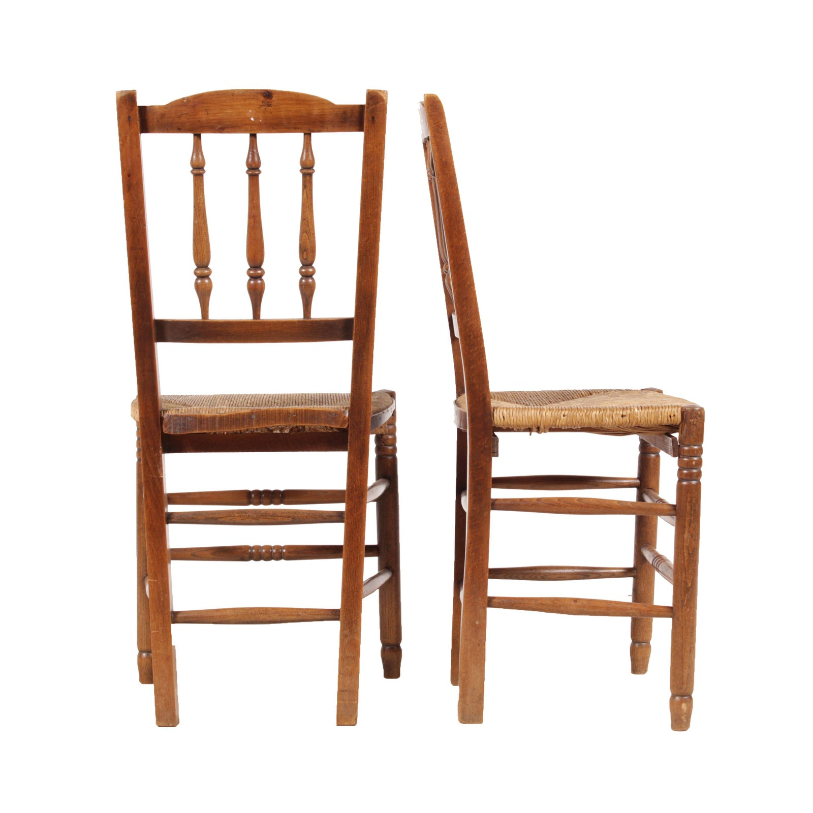 Attractive Country French S Rush Chairs Set Of  EBay - Country french chairs