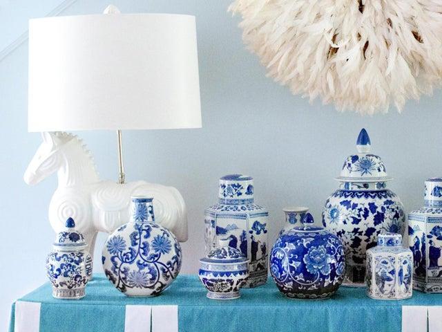 Image of Blue White Decor