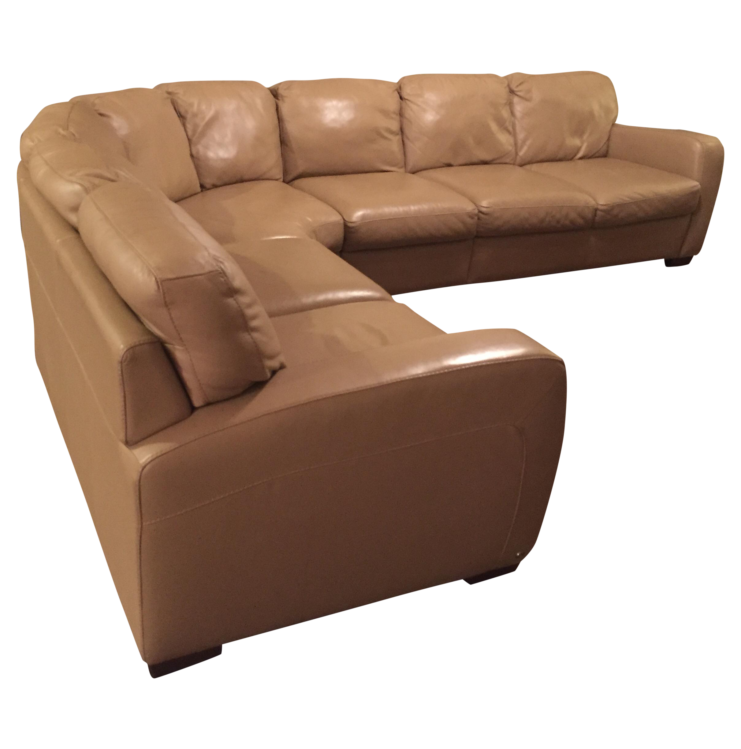 Natuzzi Leather Sectional Sofa Chairish