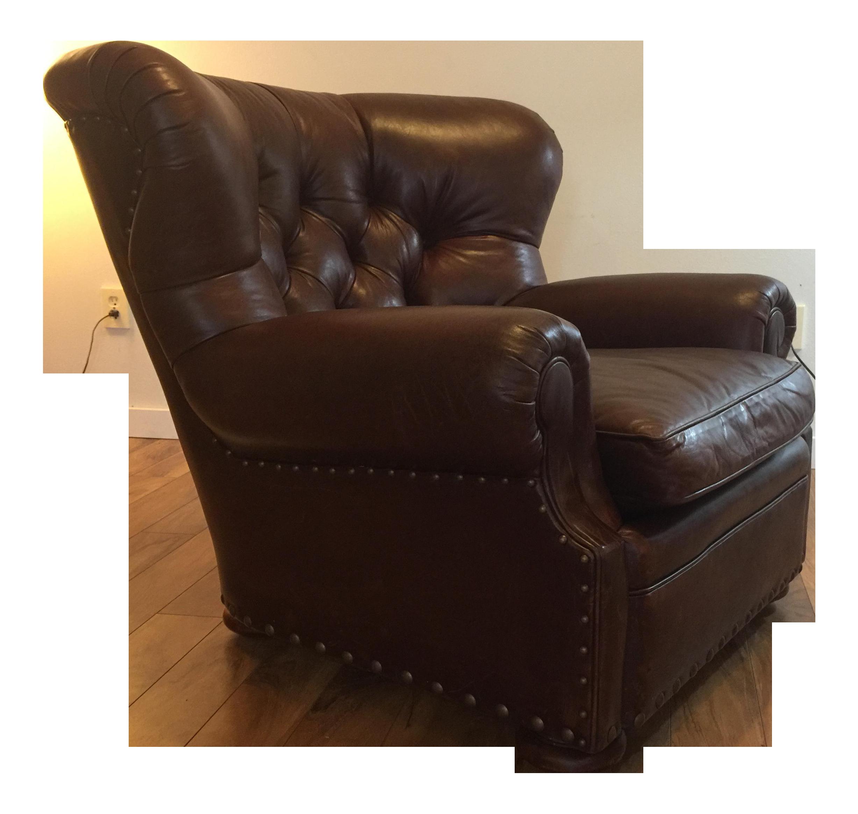 Ralph Lauren Leather Writer S Chair Chairish