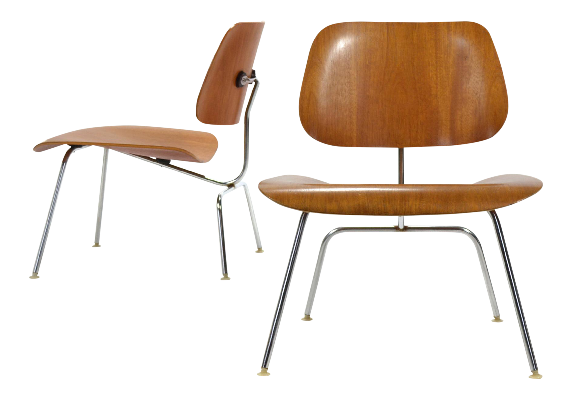 Superb Pair of Teak Eames LCM Lounge Chairs by Herman Miller