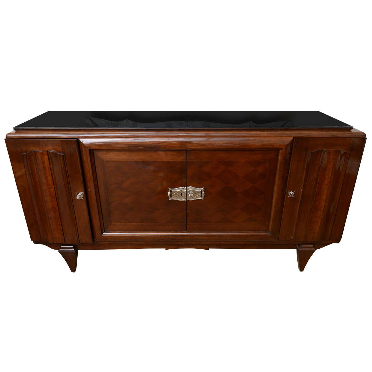 french art deco credenza sideboard chairish. Black Bedroom Furniture Sets. Home Design Ideas