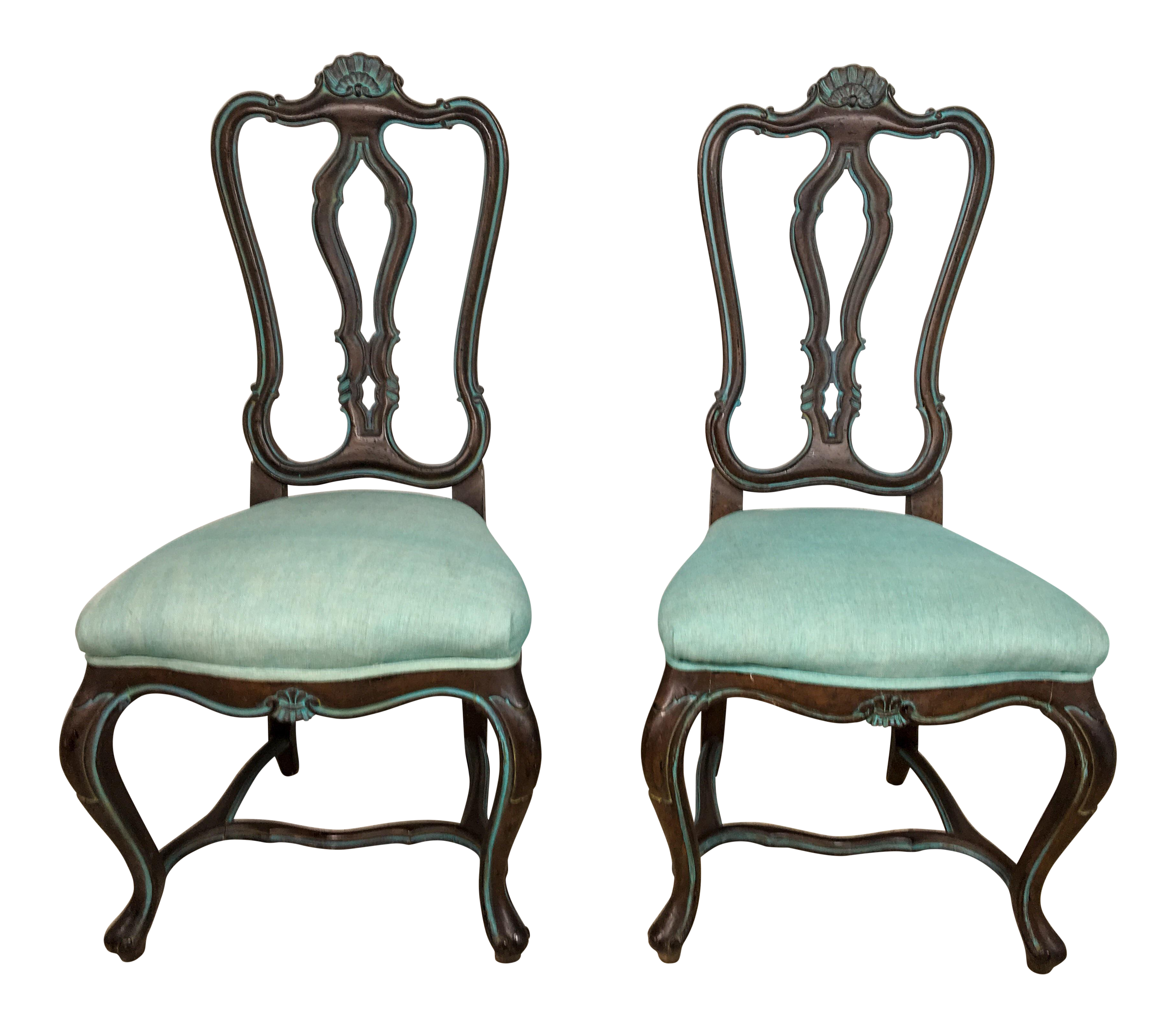 1960s carved french style chairs a pair chairish for Sixties style chairs