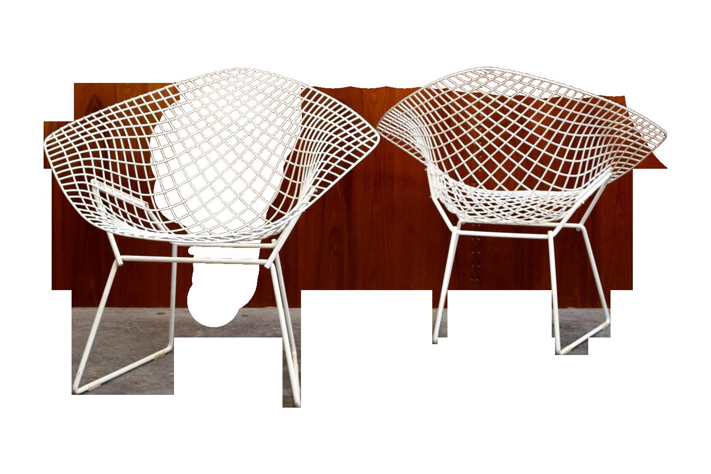 Bertoia diamond chair dimensions - Image Of Original Knoll Bertoia Diamond Chairs Pair