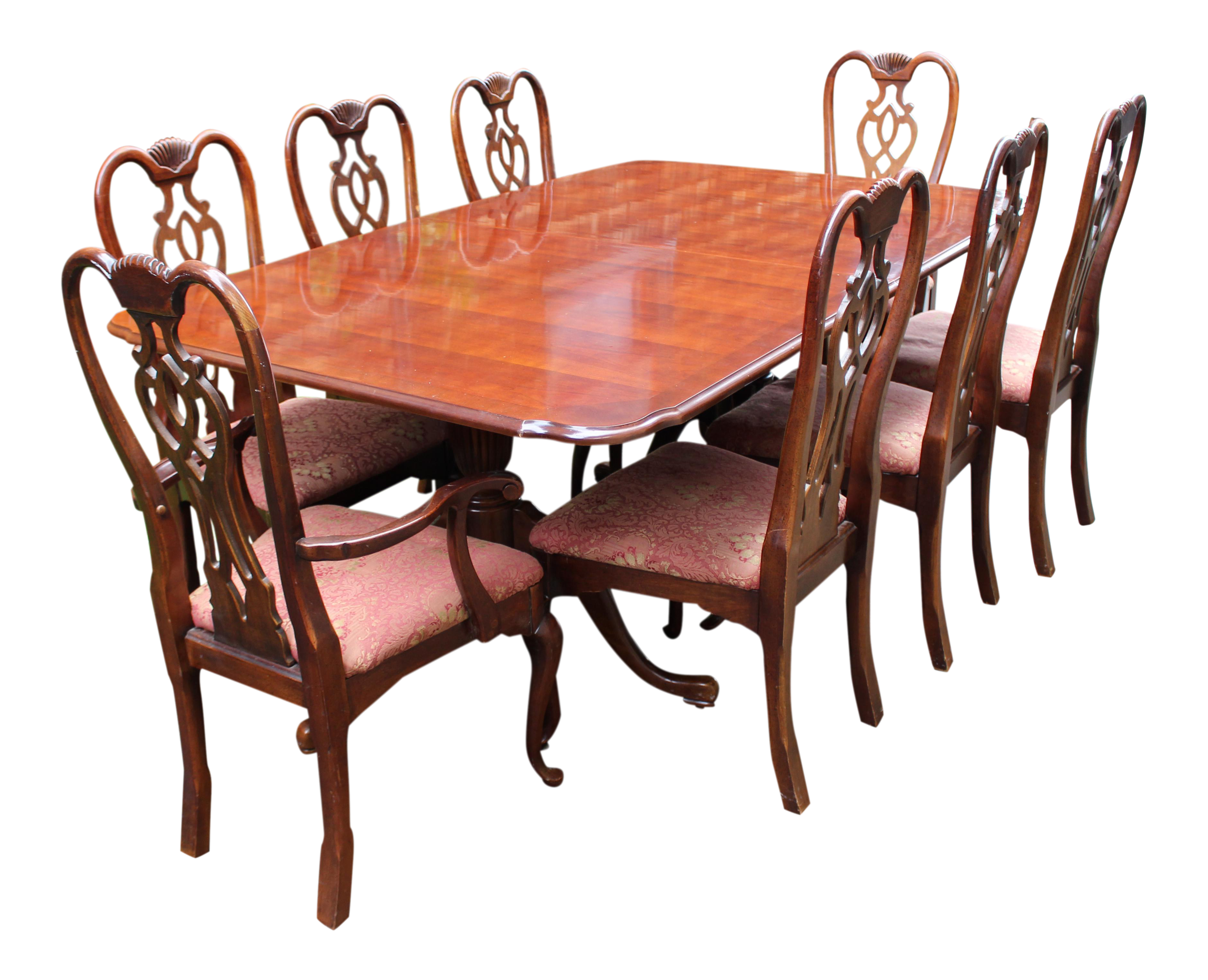 Thomasville Dining Set With Table And 8 Chairs Chairish