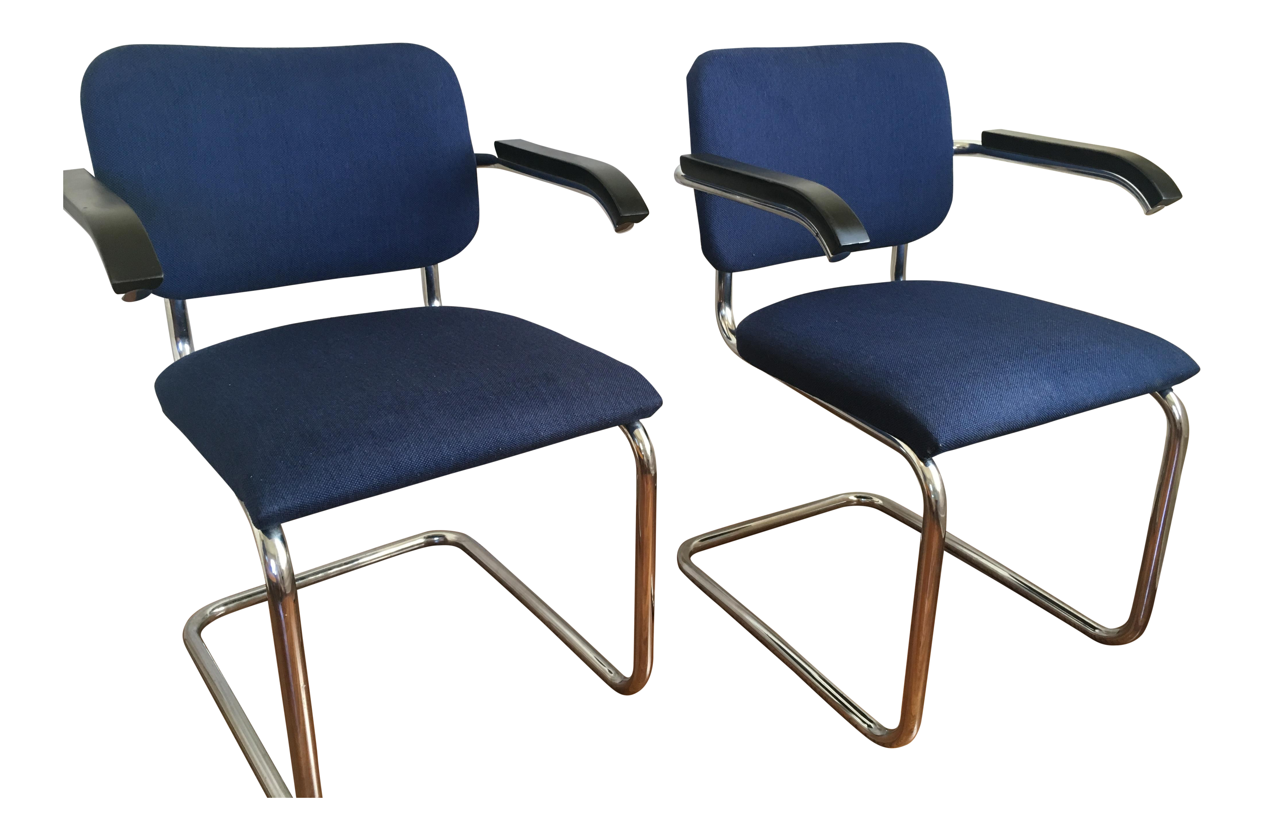 Marcel Breuer for Thonet Cesca Chairs A Pair