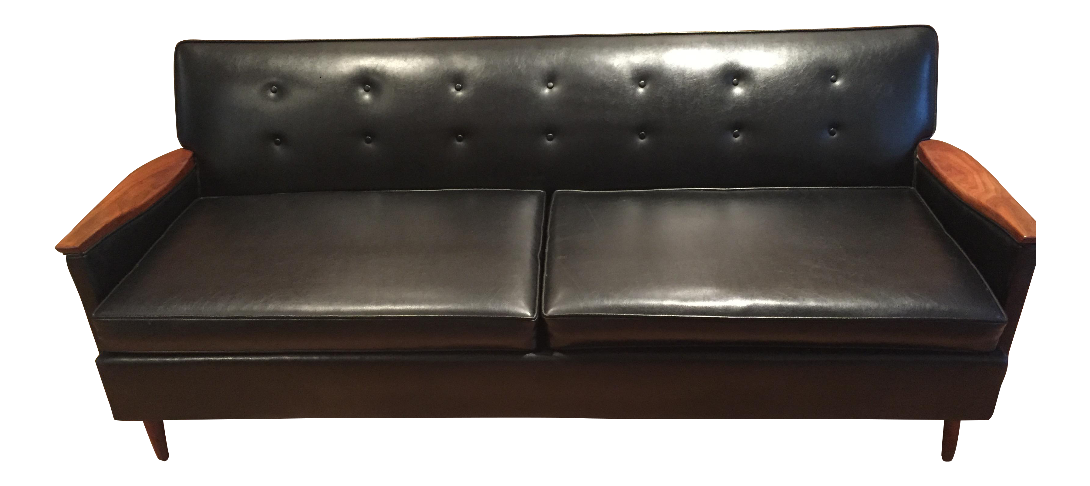 Mid Century Modern Era by Magnuson Black Sofa