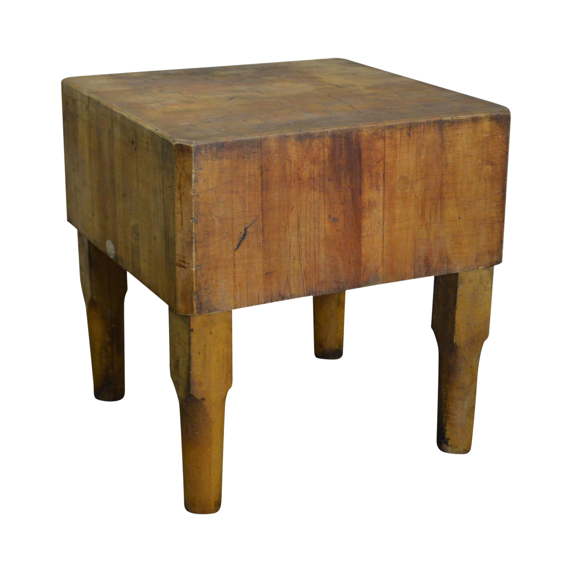 Vintage Antique Maple Butcher Block Table By Bally Block Co.