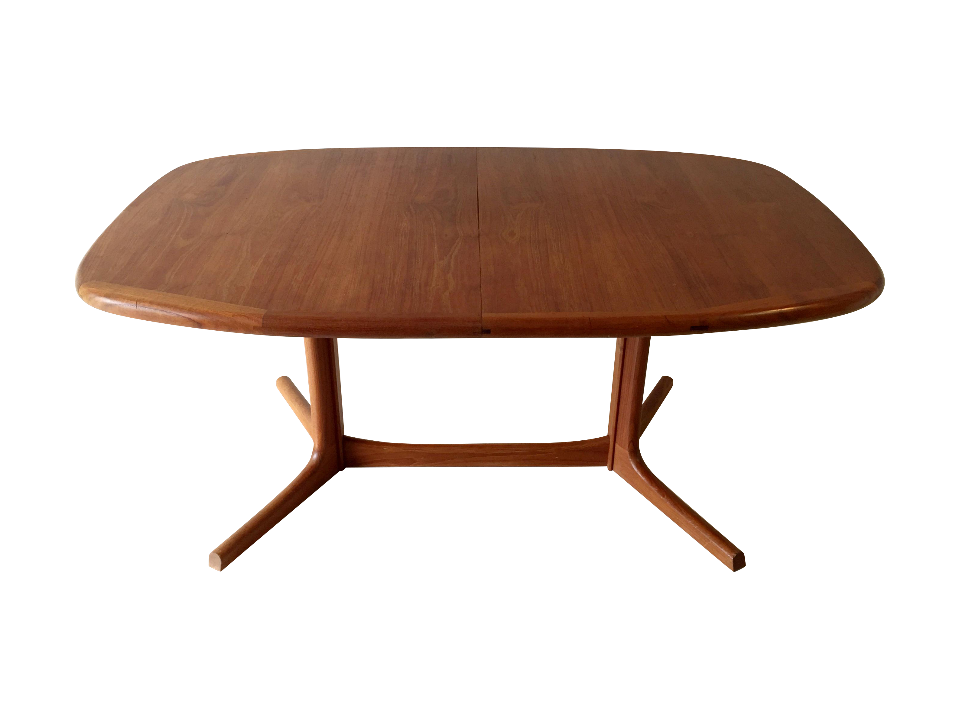 image of vintage danish dyrlund teak dining table - Scandinavian Teak Dining Room Furniture