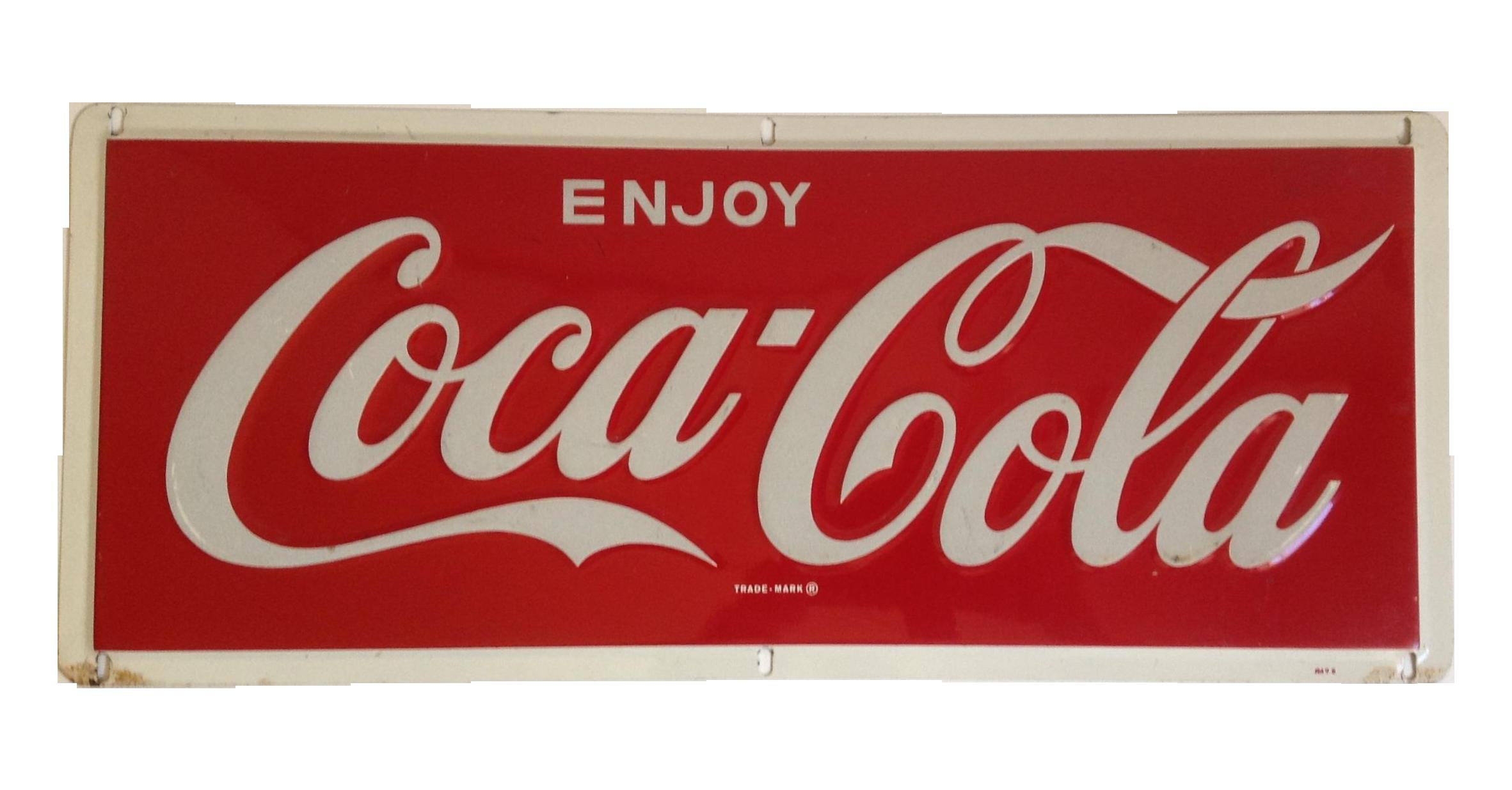 Coca Cola Metal Tin Enamel Sign C 1969 Chairish