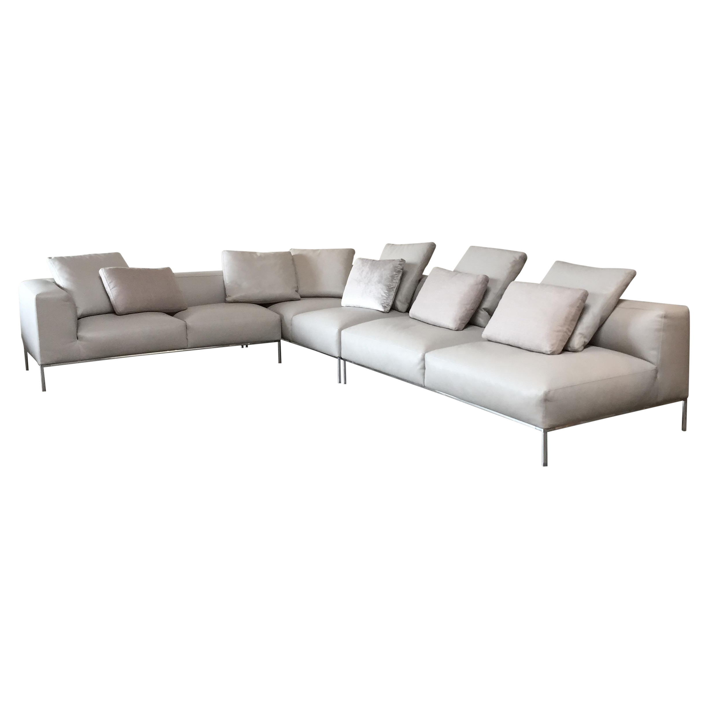 B B Italia 39 Frank 39 Leather Sectional Chairish