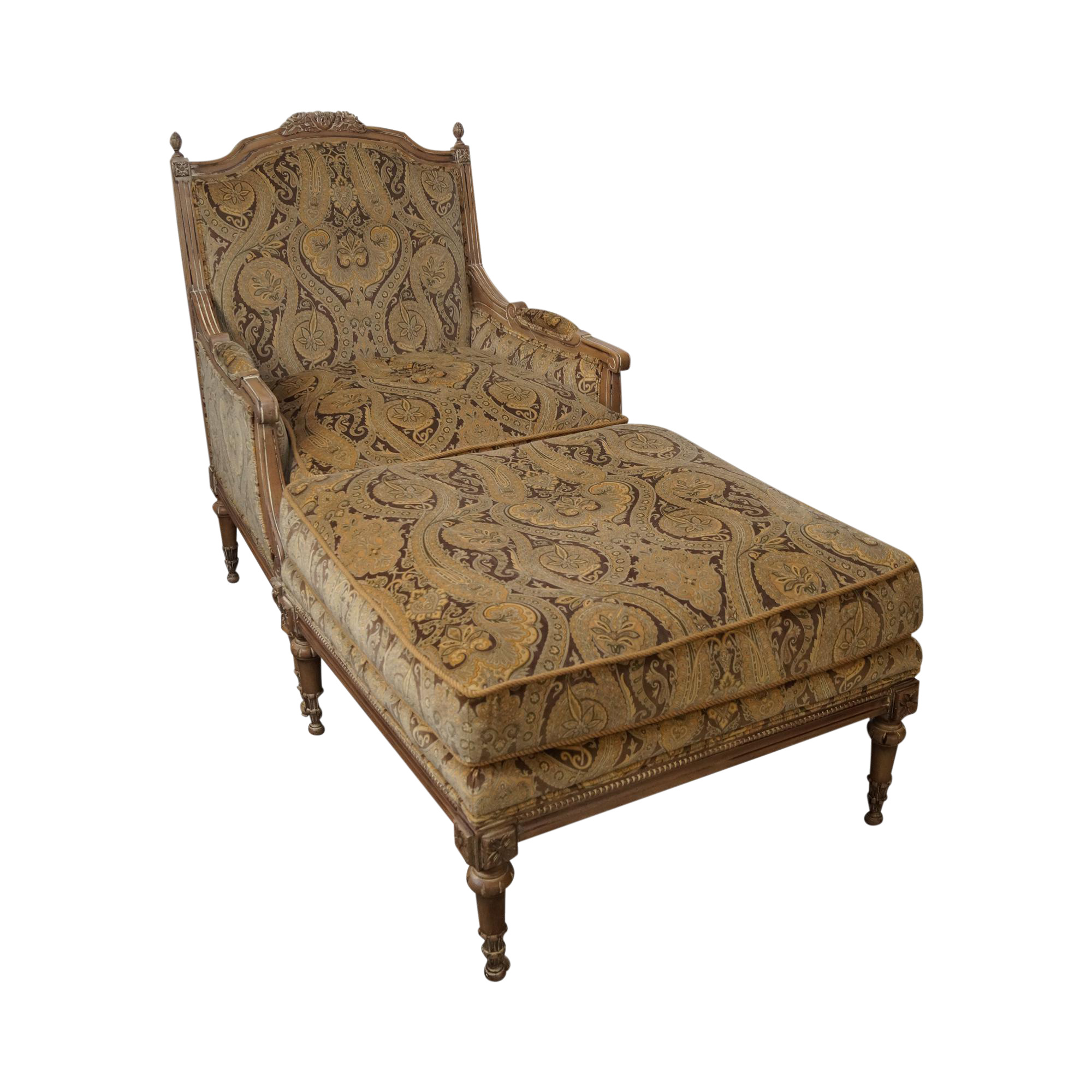 Lillian August Drexel French Louis Xvi Style Bergere Chair