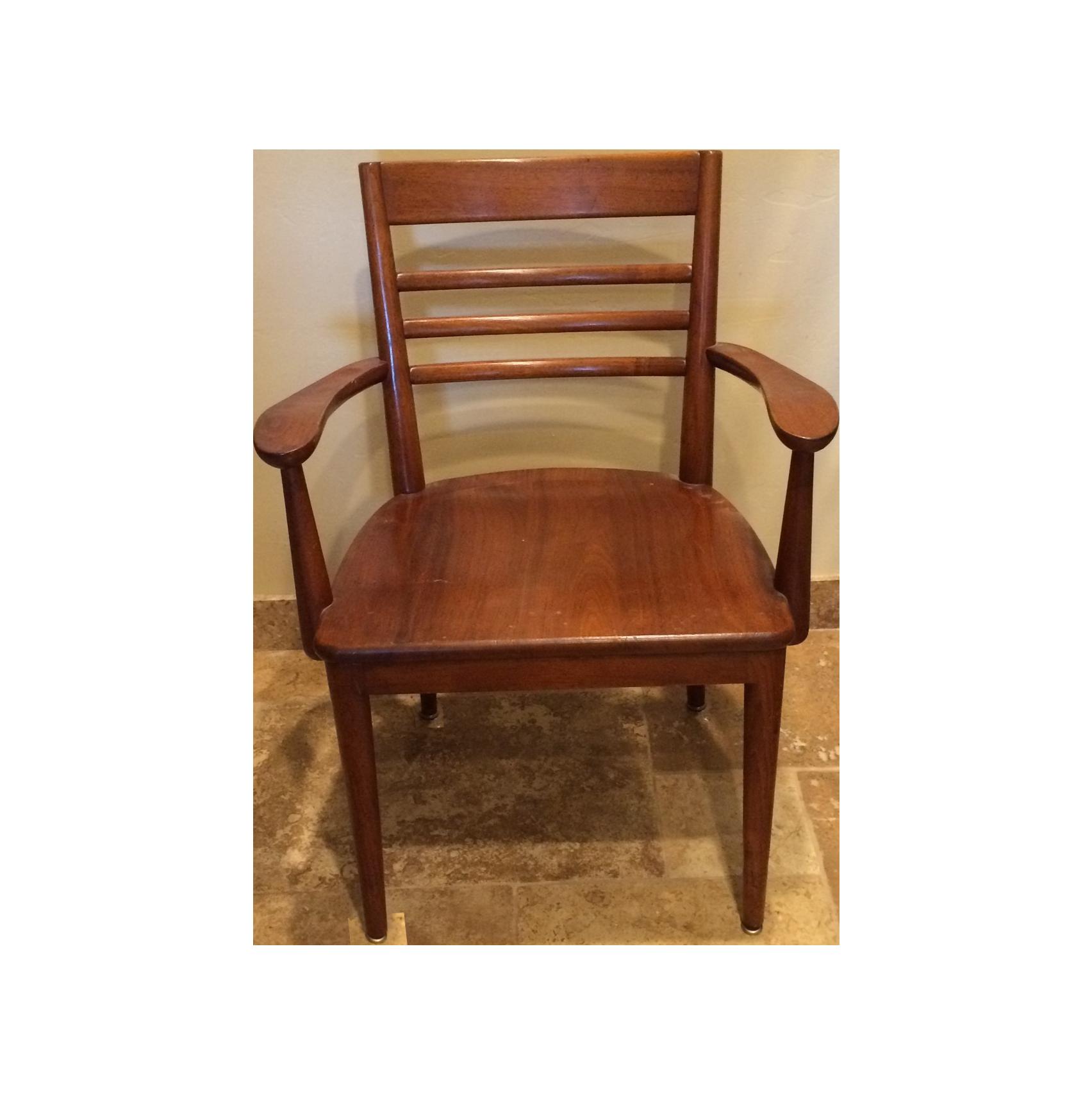 Rare vintage wooden milwaukee chair chairish