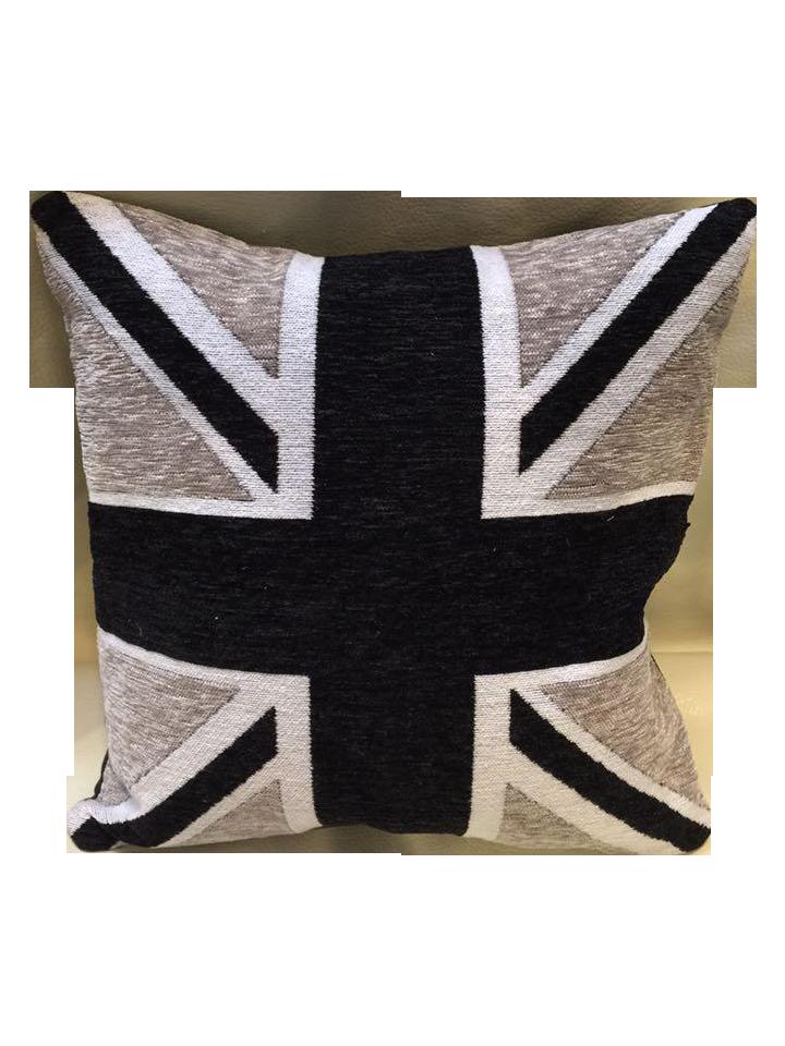 Black Gray Amp White Union Jack Down Pillow Chairish