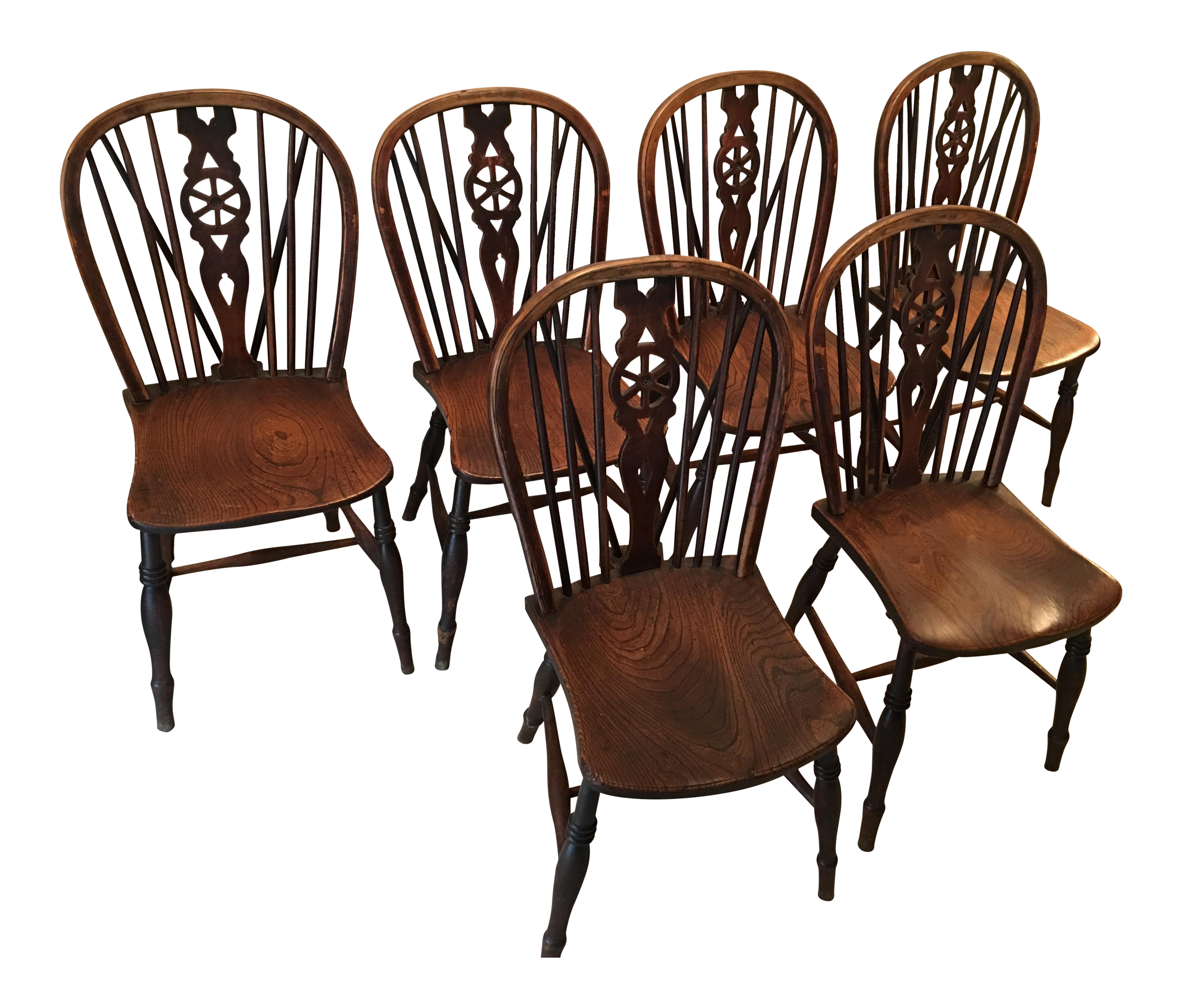 windsor oak dining room kitchen chairs wagon wheel brace backs set 6 kitchen chairs with wheels Image of Windsor Oak Dining Room Kitchen Chairs Wagon Wheel Brace Backs Set 6