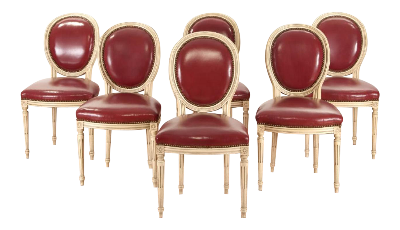 Louis Xvi Painted Dining Chairs Set Of 6 Chairish