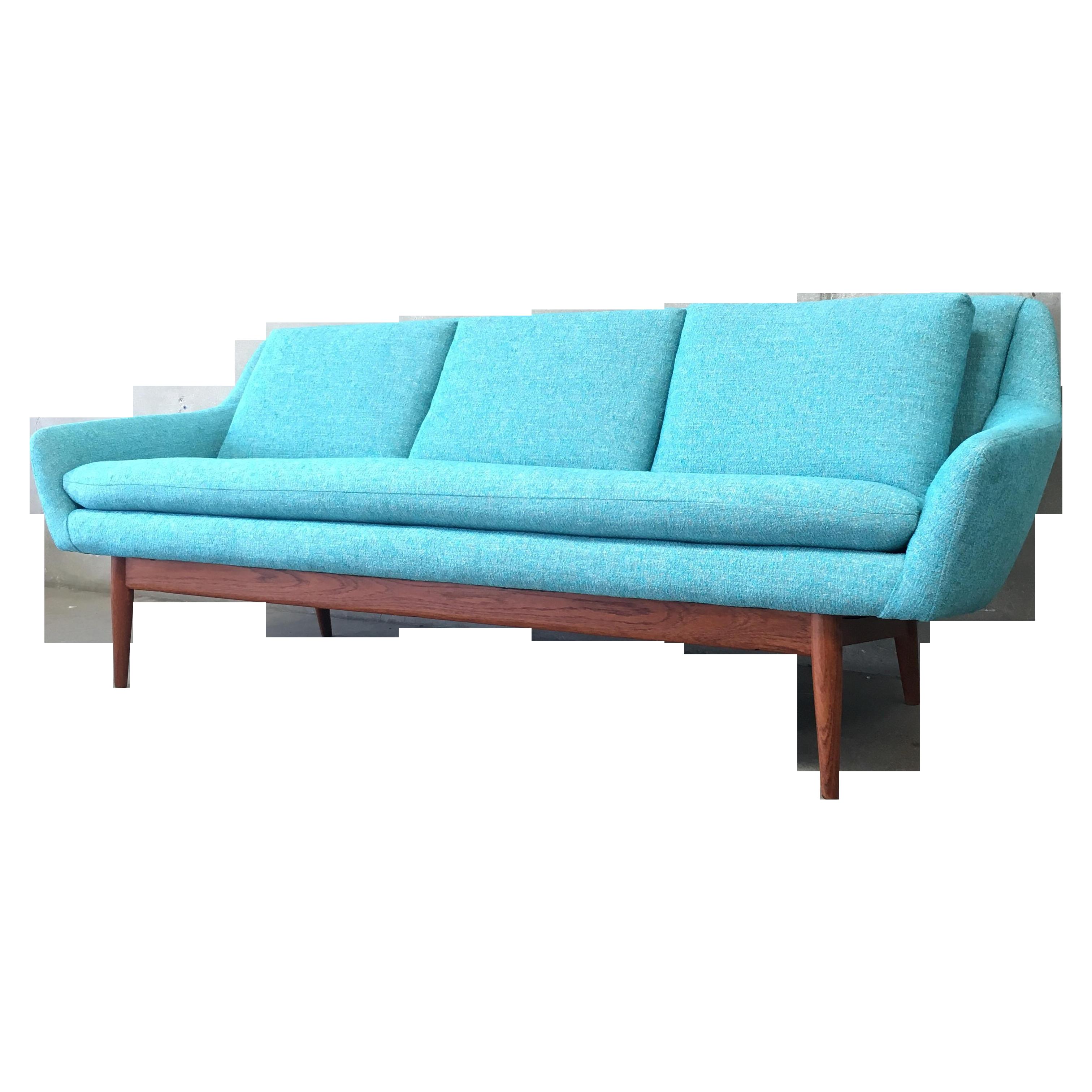 Danish Modern Turquoise Sofa Chairish