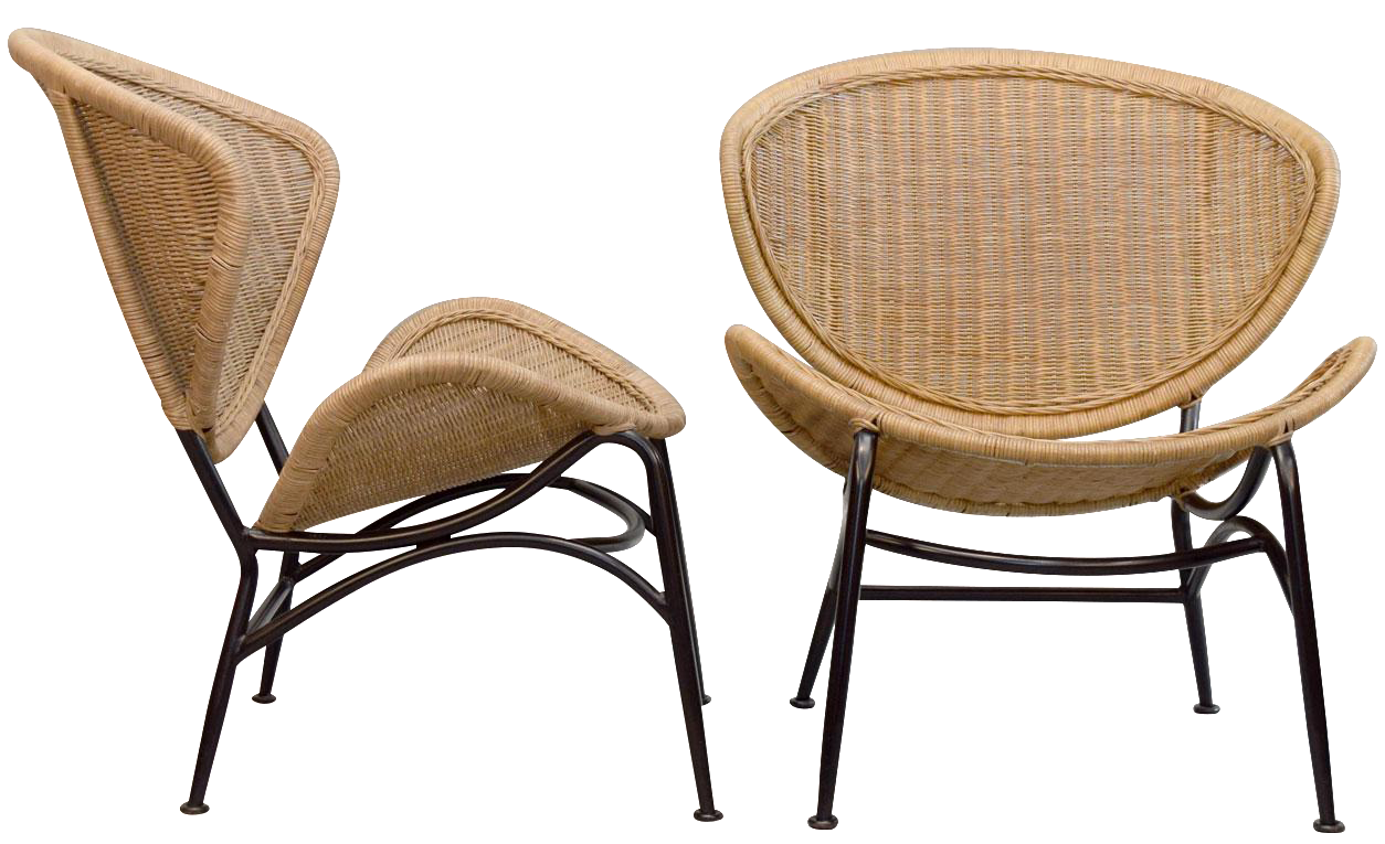 Antique wicker lounge chair - Image Of Vintage Wicker Lounge Chairs A Pair