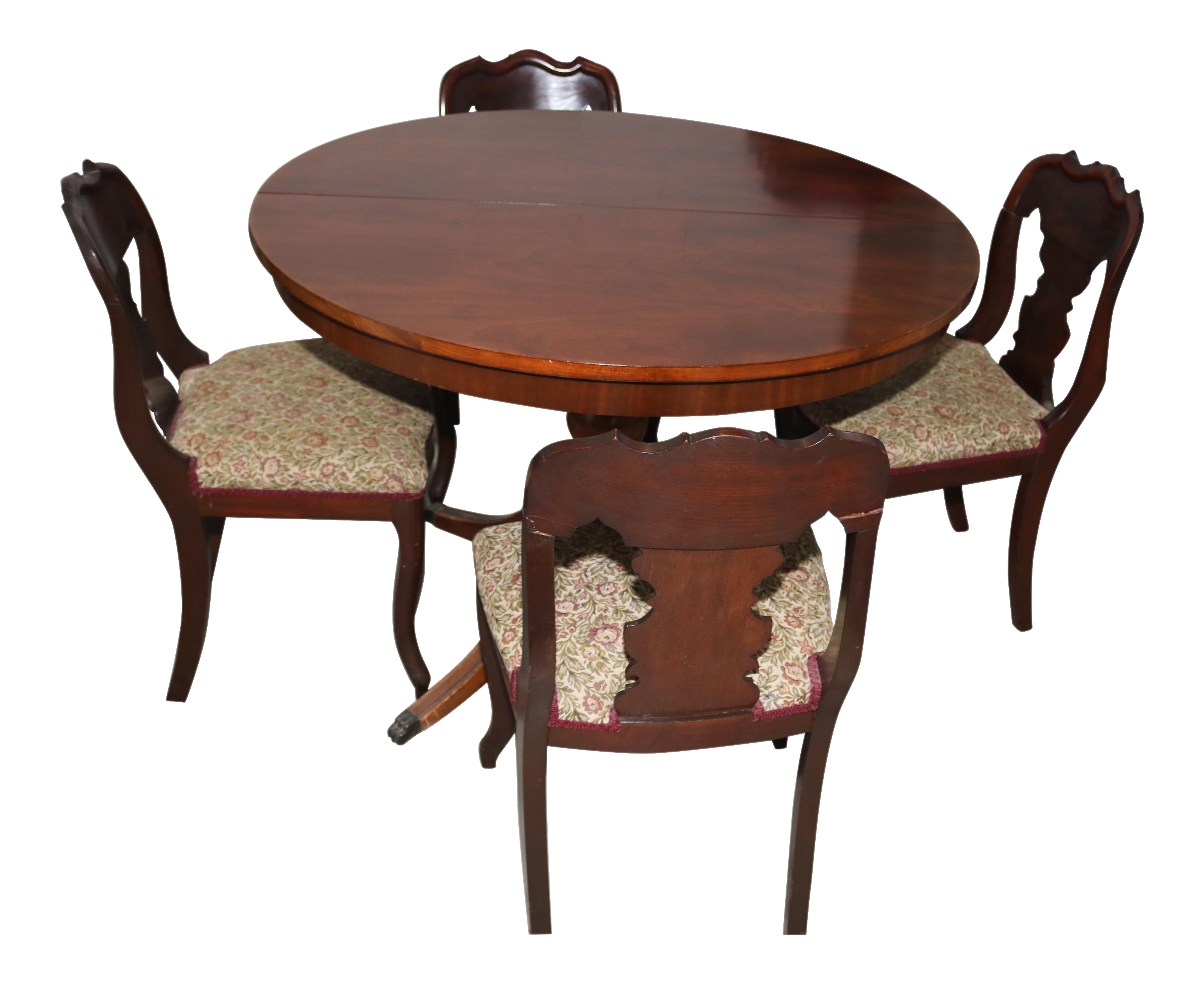 Vintage 1940's Craddock Furniture of Indiana Mahogany Table & Chairs |  Chairish