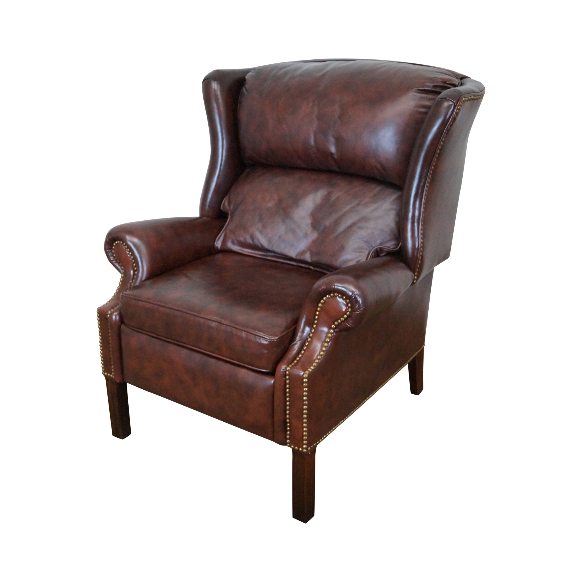 Bloomingdales Craftwork Guild Reclining Wing Chair Chairish . Bloomingdales  Leather Sofa ...