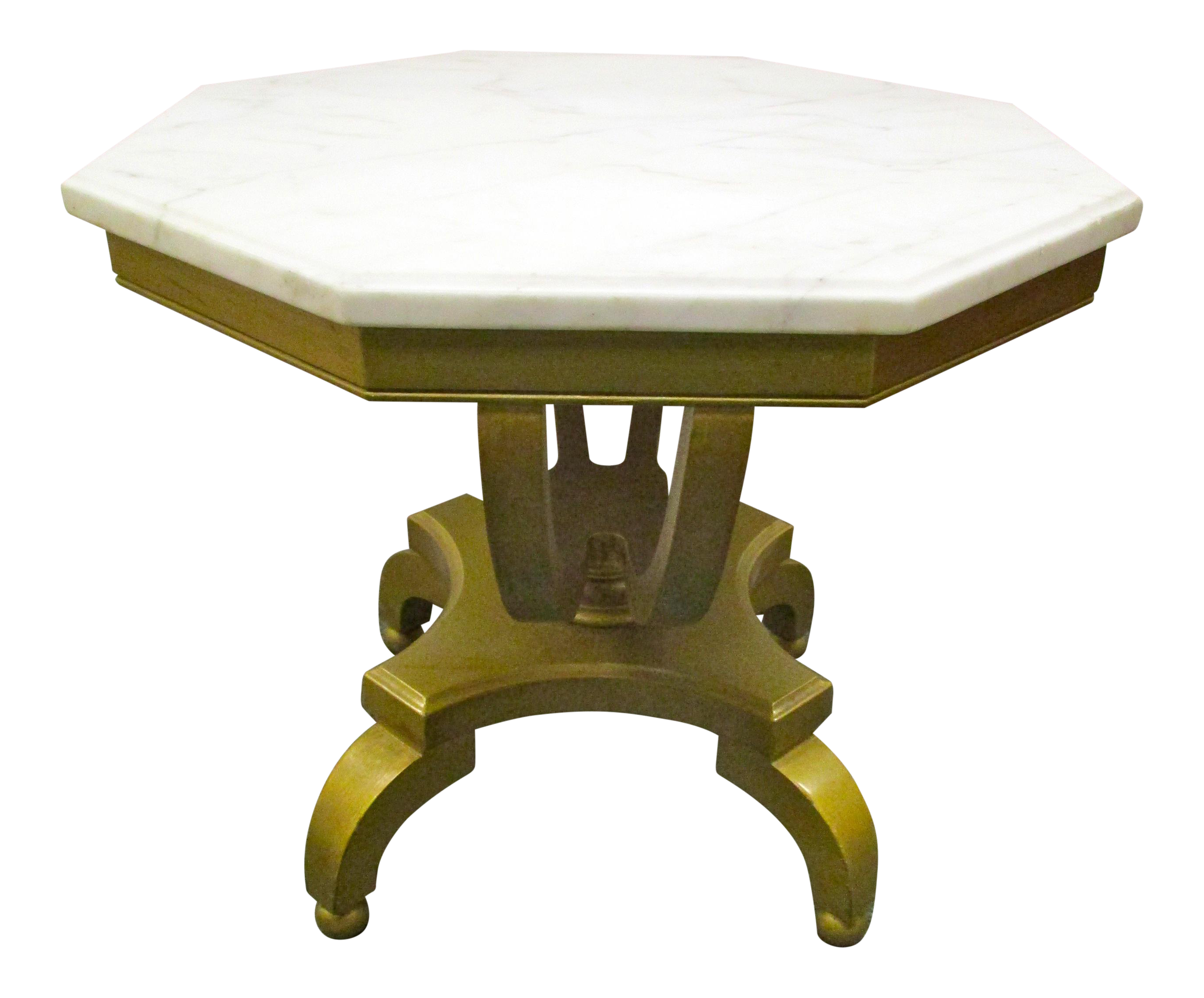 Marble top side table stillmade walnut tripod side table for Antique marble coffee table and end tables