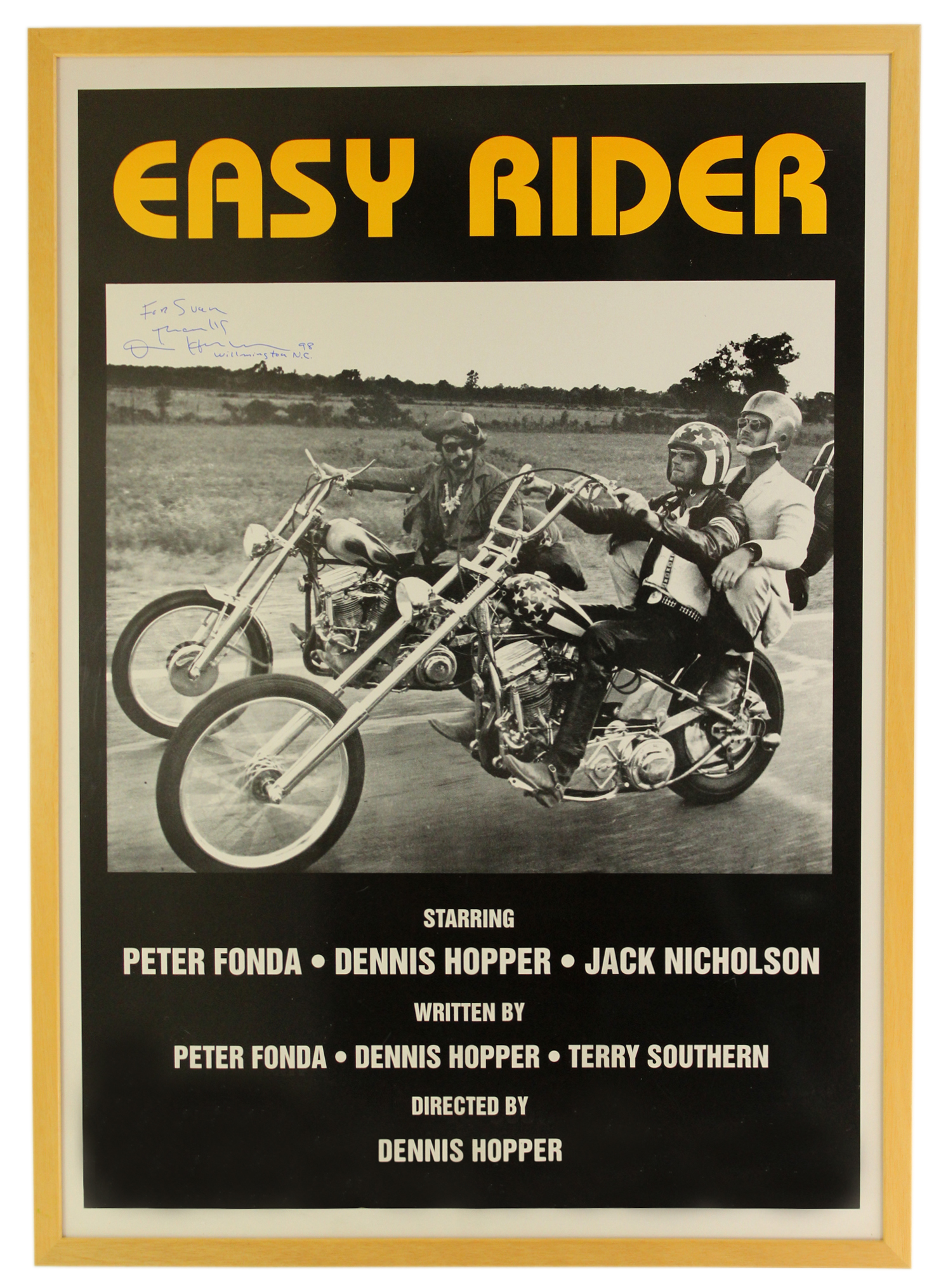Dennis Hopper Signed Easy Rider Poster | Chairish