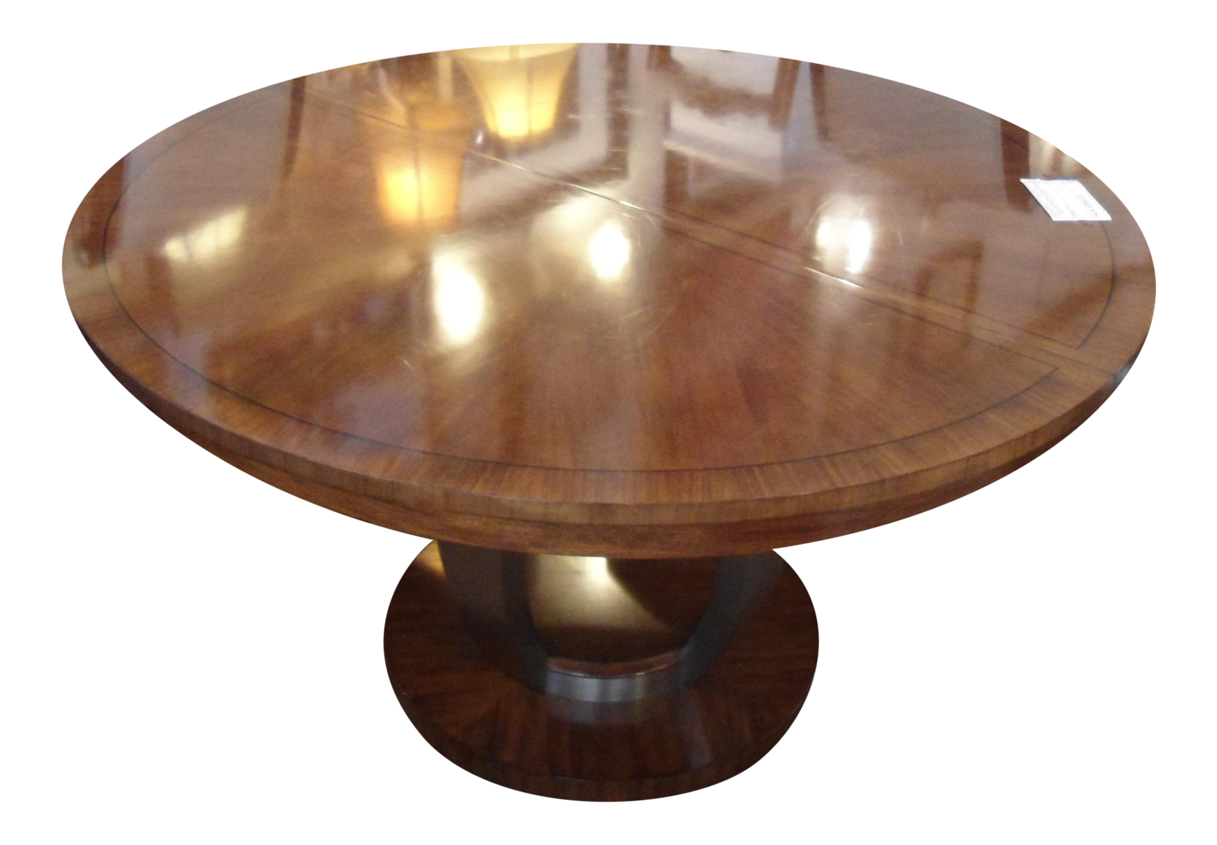 Drexel heritage round dining table w 18 leaf chairish for Round table 99 rosenheim