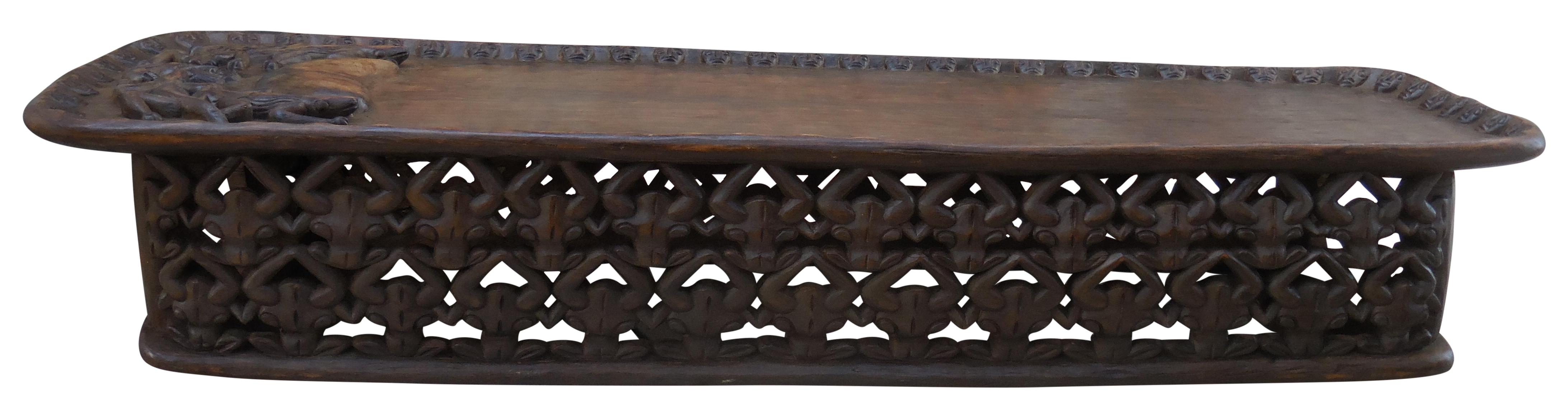 Carved african coffee table chairish for Spl table 98 99