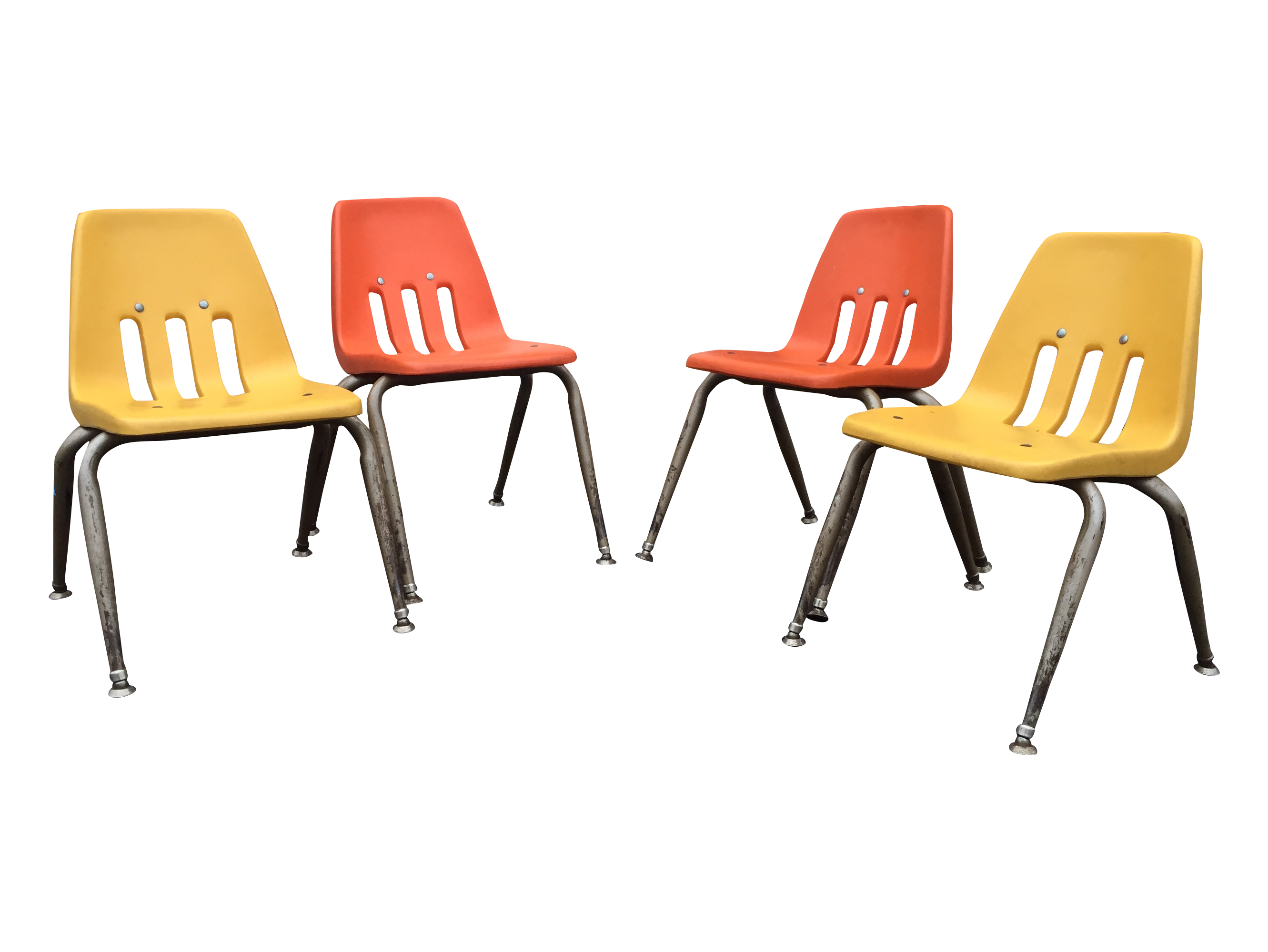 Stacking Chairs by Virco Los Angeles Set of 4