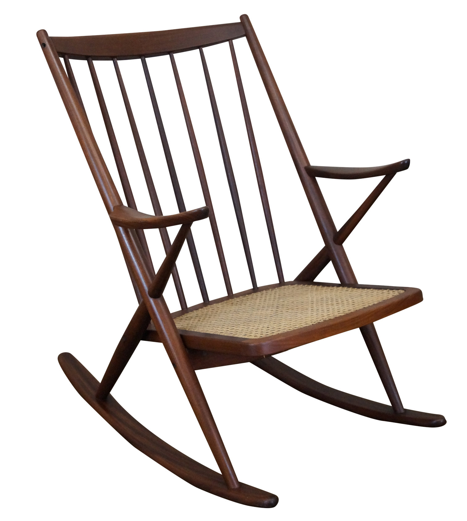 Frank Reenskaug Bramin Danish Modern Rocking Chair  Chairish