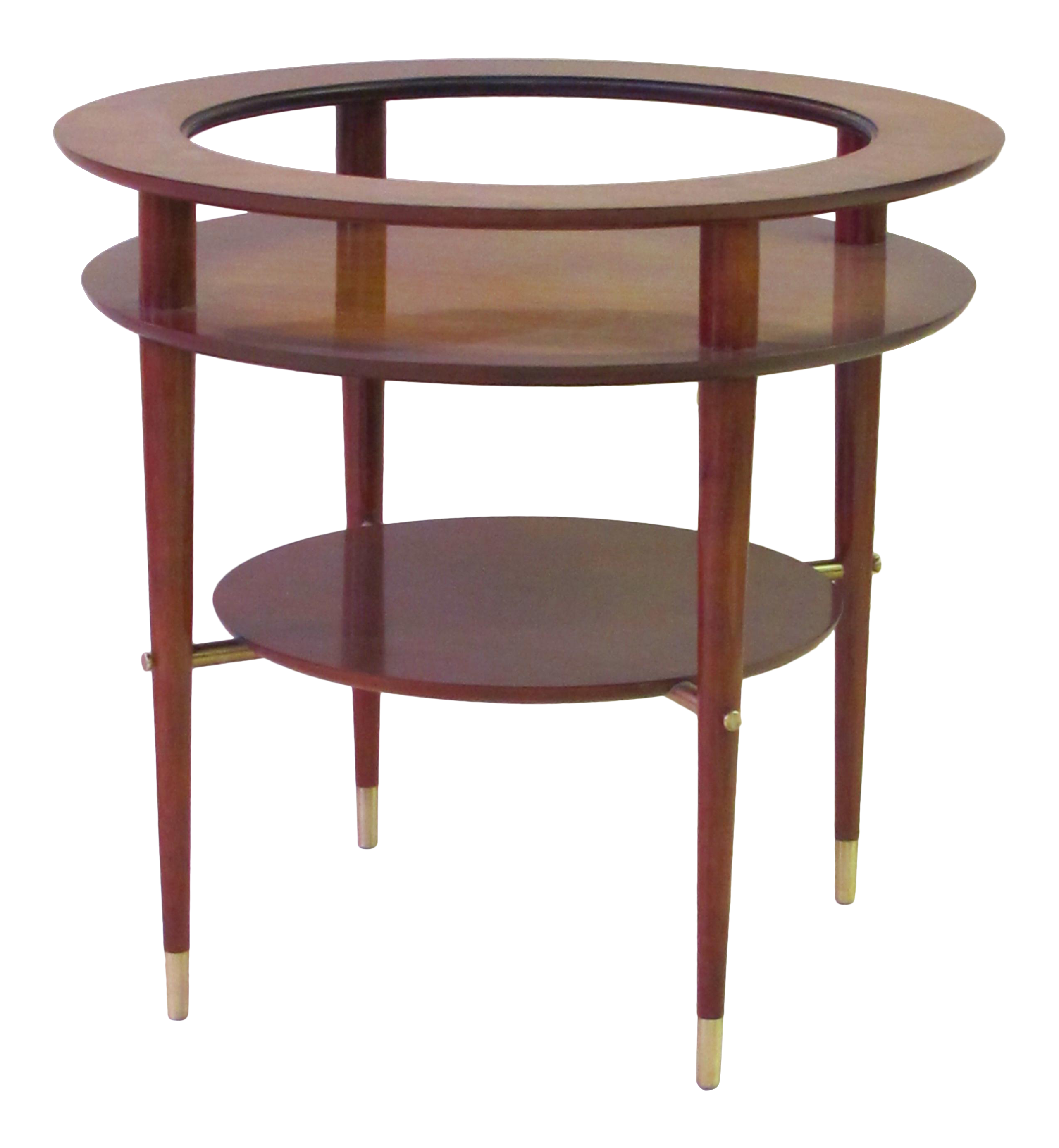 Fine A Stylish And Sleek Italian Mid Century Circular Side Table With Glass  Top And Brass Fittings | DECASO