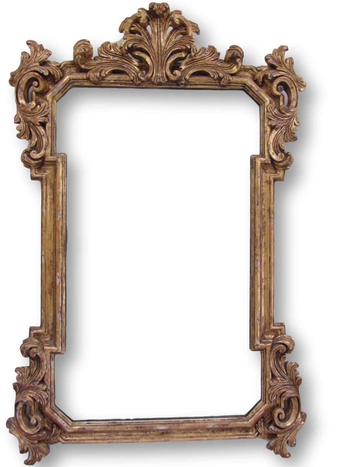 Large traditional baroque gold carved mirror chairish for Small baroque mirror