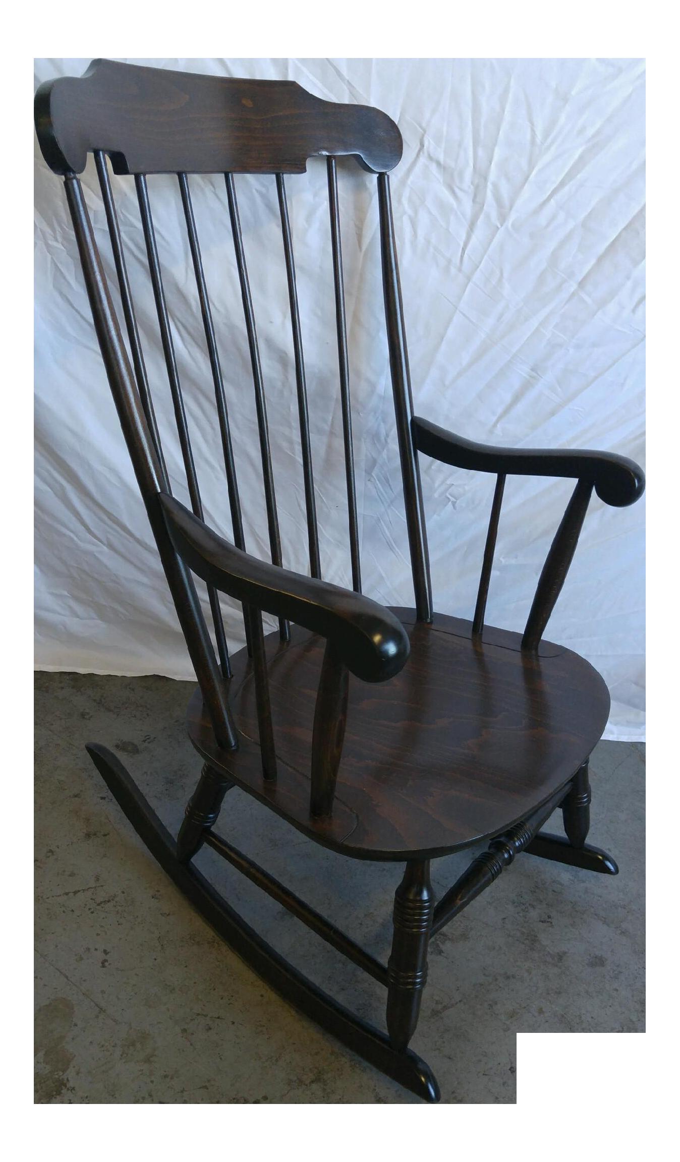 Vintage Spindle Back Windsor Rocking Chair Chairish