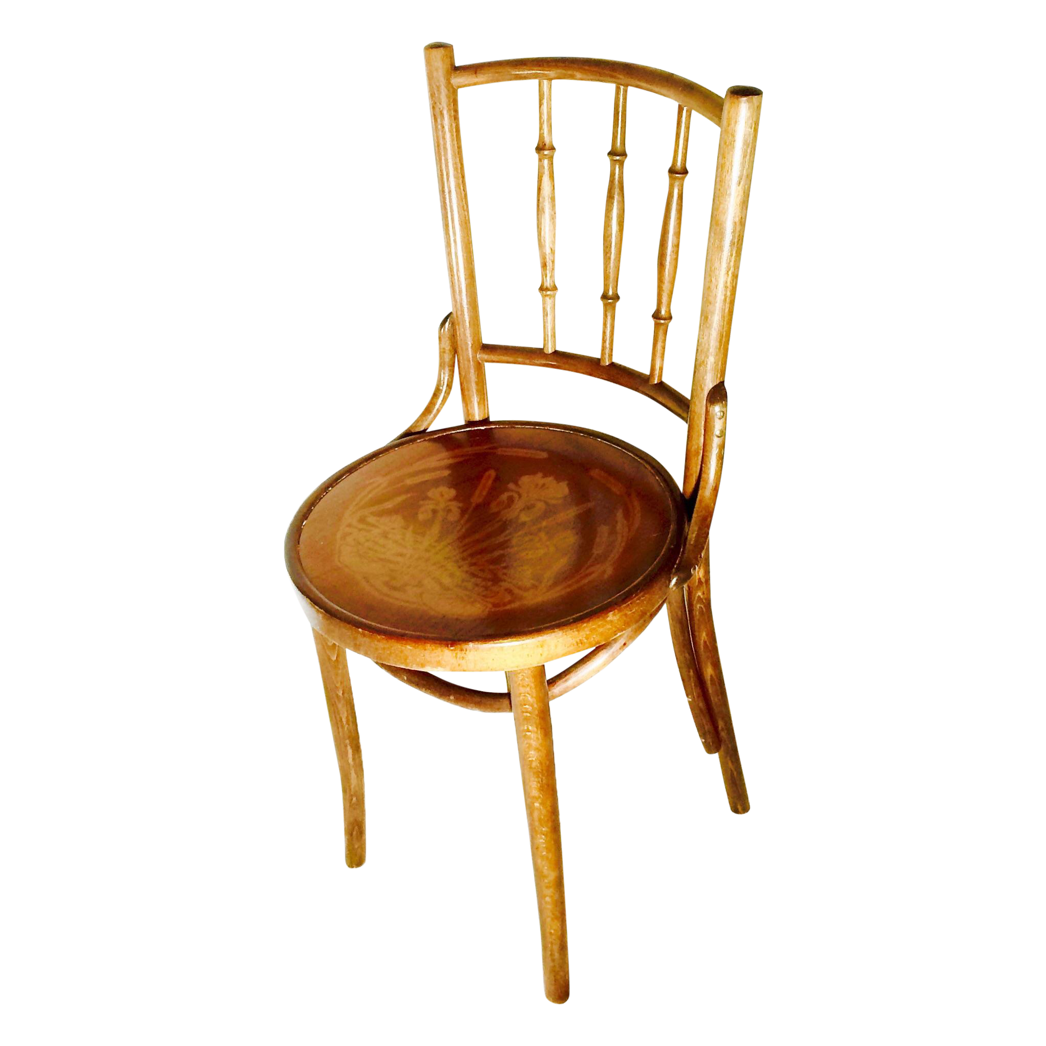 antique bentwood thonet cafe chair chairish. Black Bedroom Furniture Sets. Home Design Ideas
