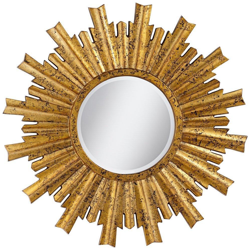 large sunburst gold mirror chairish