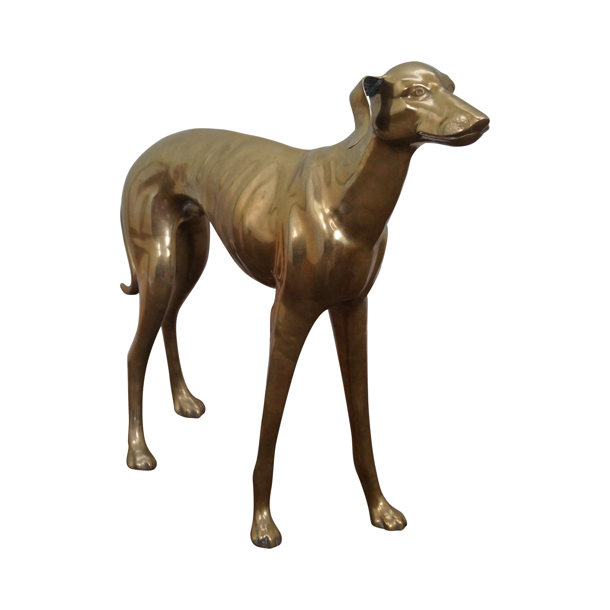 Vintage Brass Whippet Greyhound Dog Statue Chairish