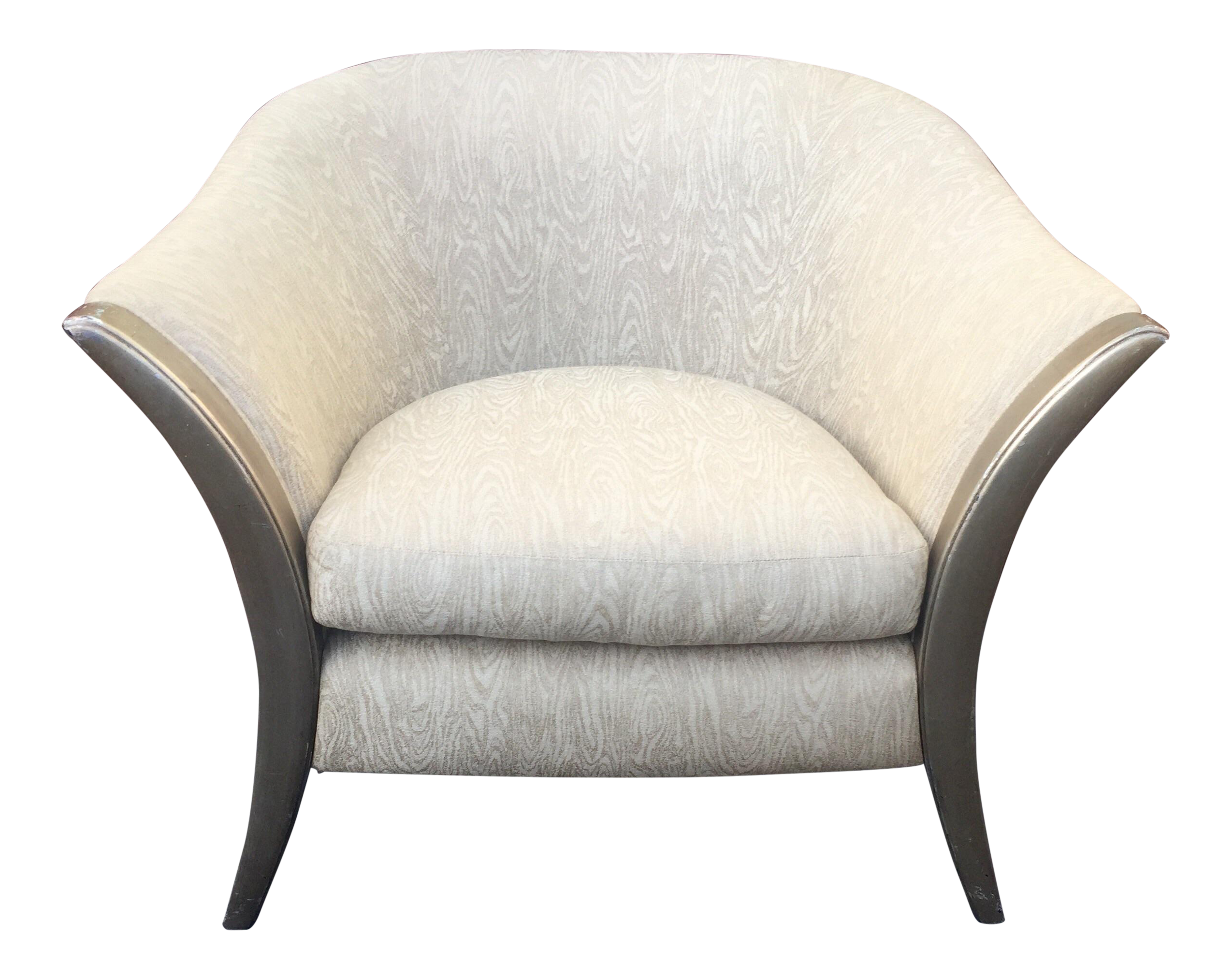 Marge Carson Silver Gilded Lily Chair Chairish
