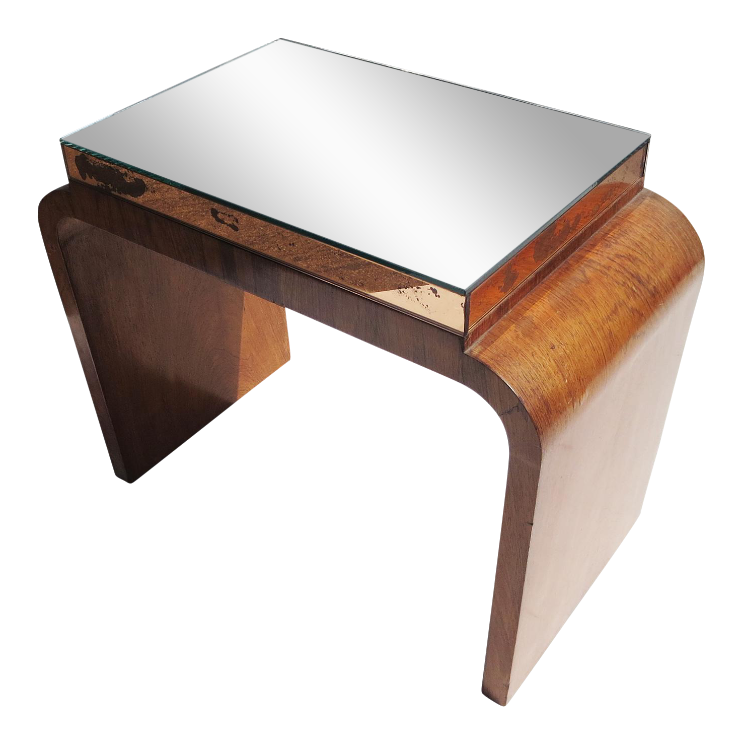 Image Of Art Deco Mirror Top Side Table