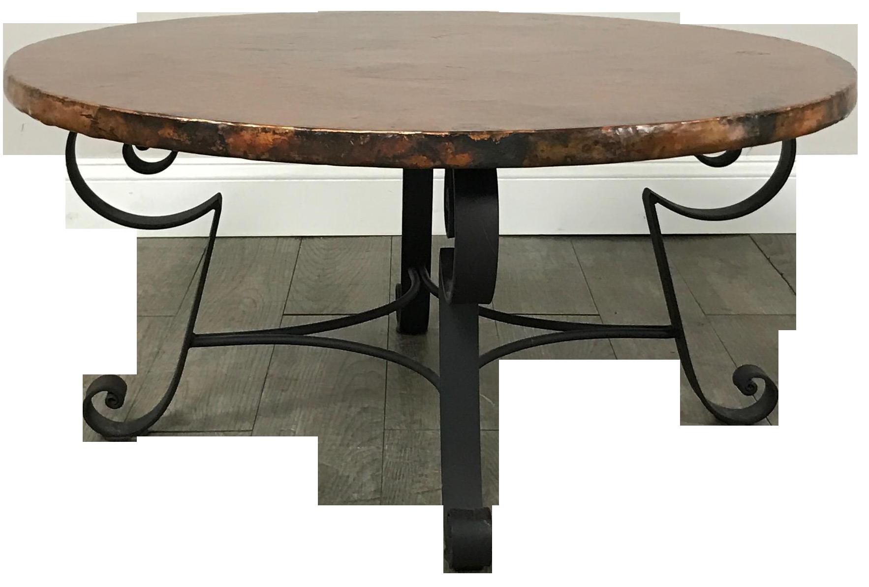Arhaus Copper Top Coffee Table