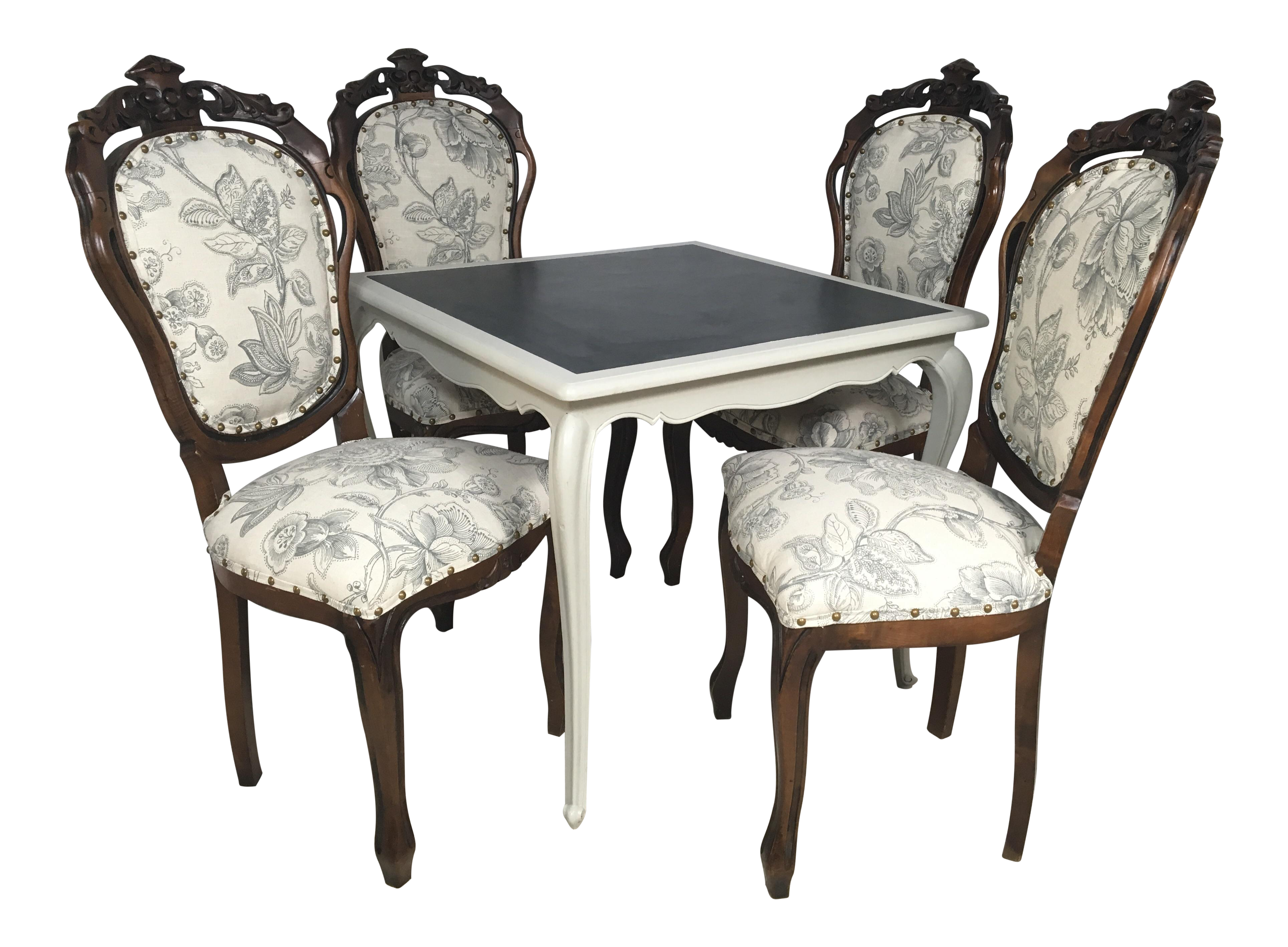 Antique game table chairs - Image Of Antique French Game Table And Chairs S 5