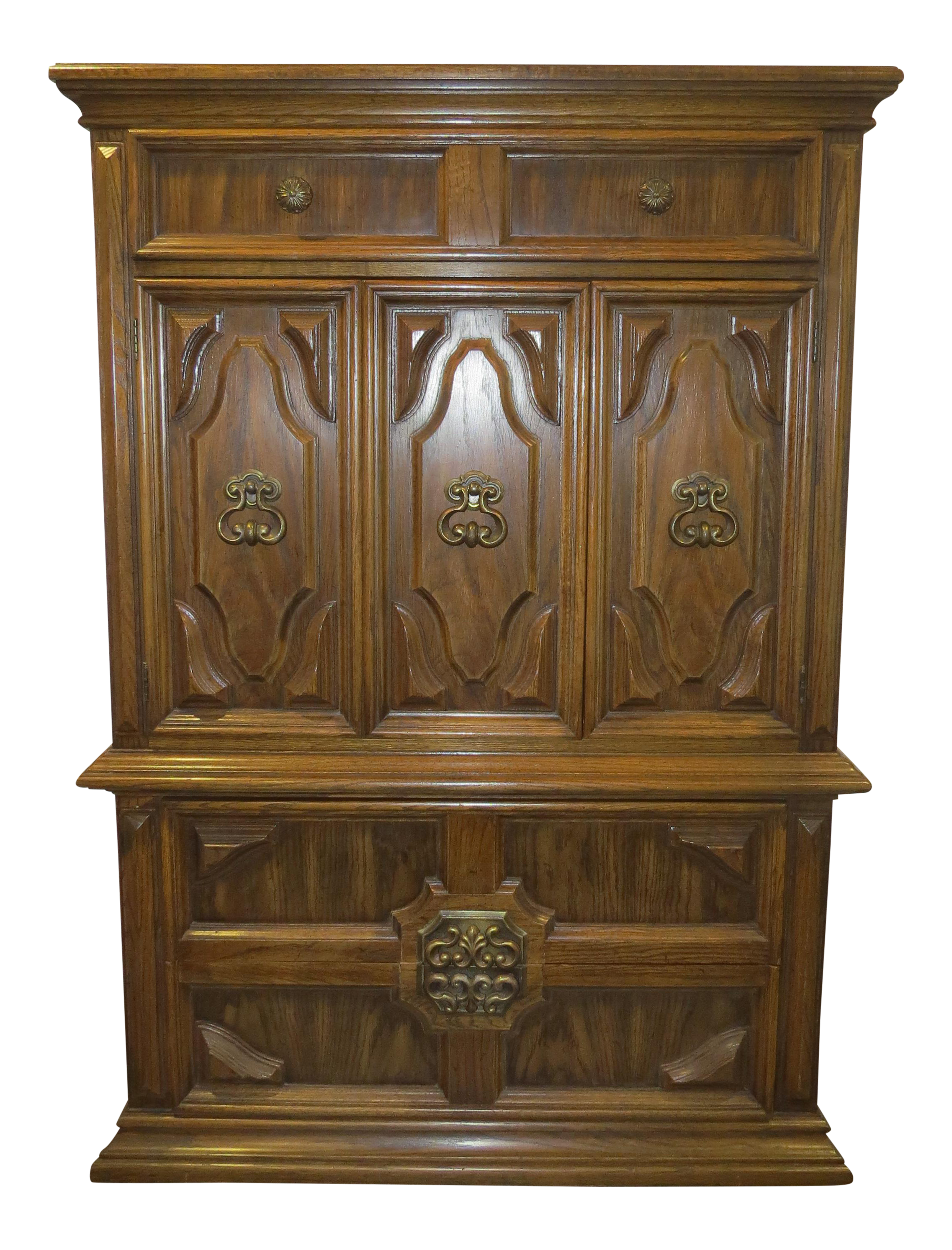 Queen Anne Style Bedroom Furniture Gently Used Thomasville Furniture Chairish