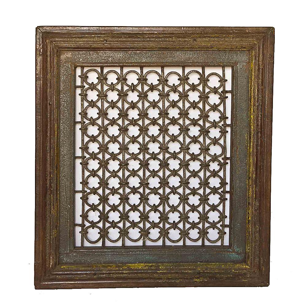 Wrought iron window grill frame chairish
