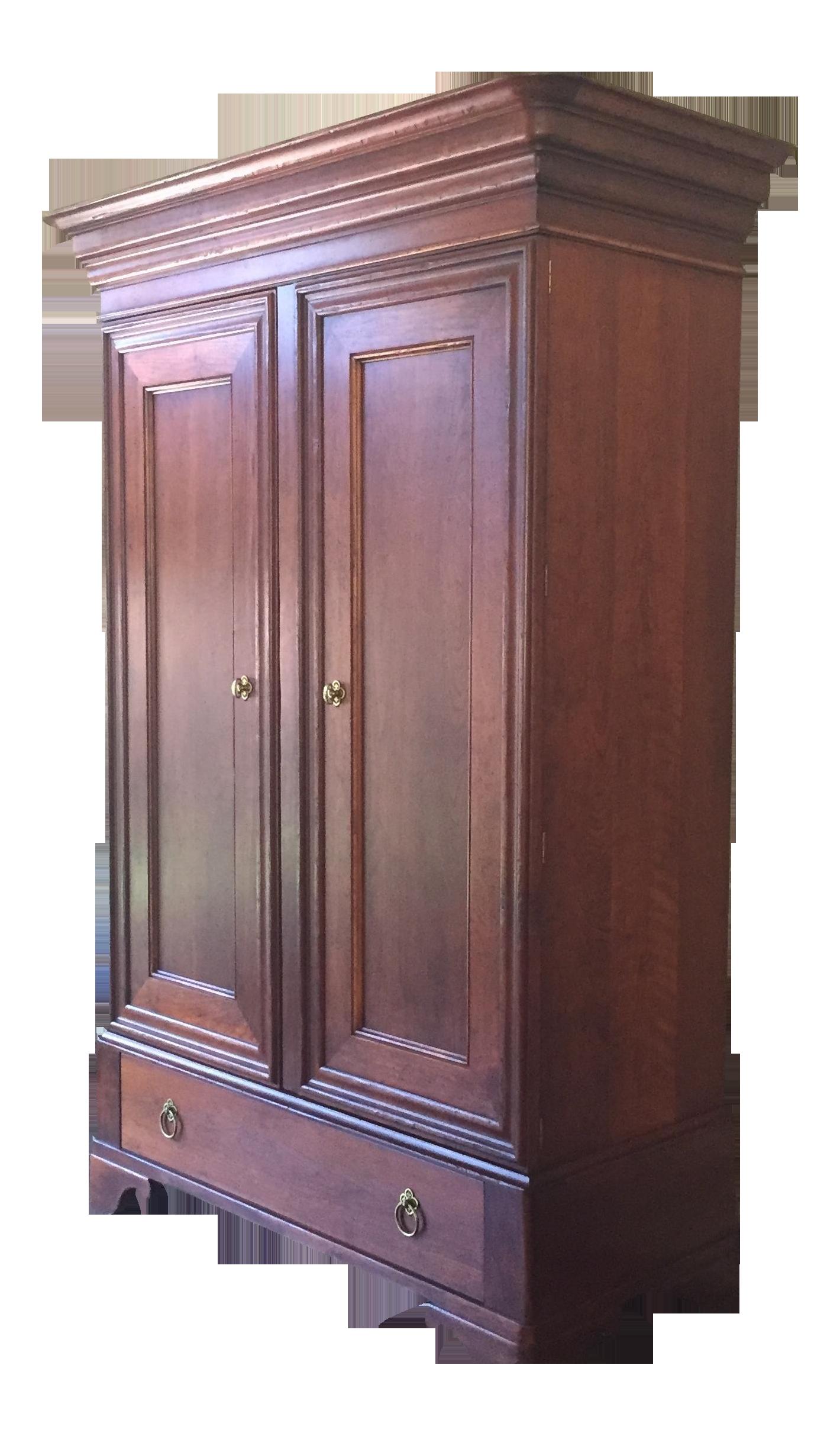 Cherry Wood Armoire ~ Baker cherry wood armoire chairish