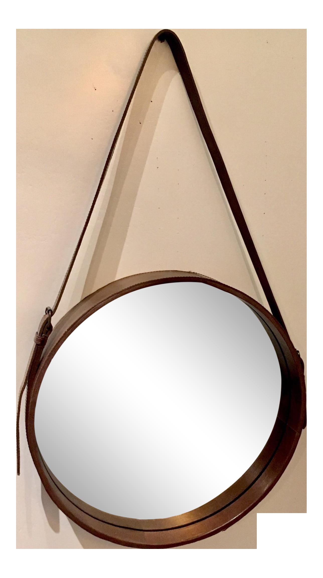 Lawson Fenning Leather Strap Mirror Chairish