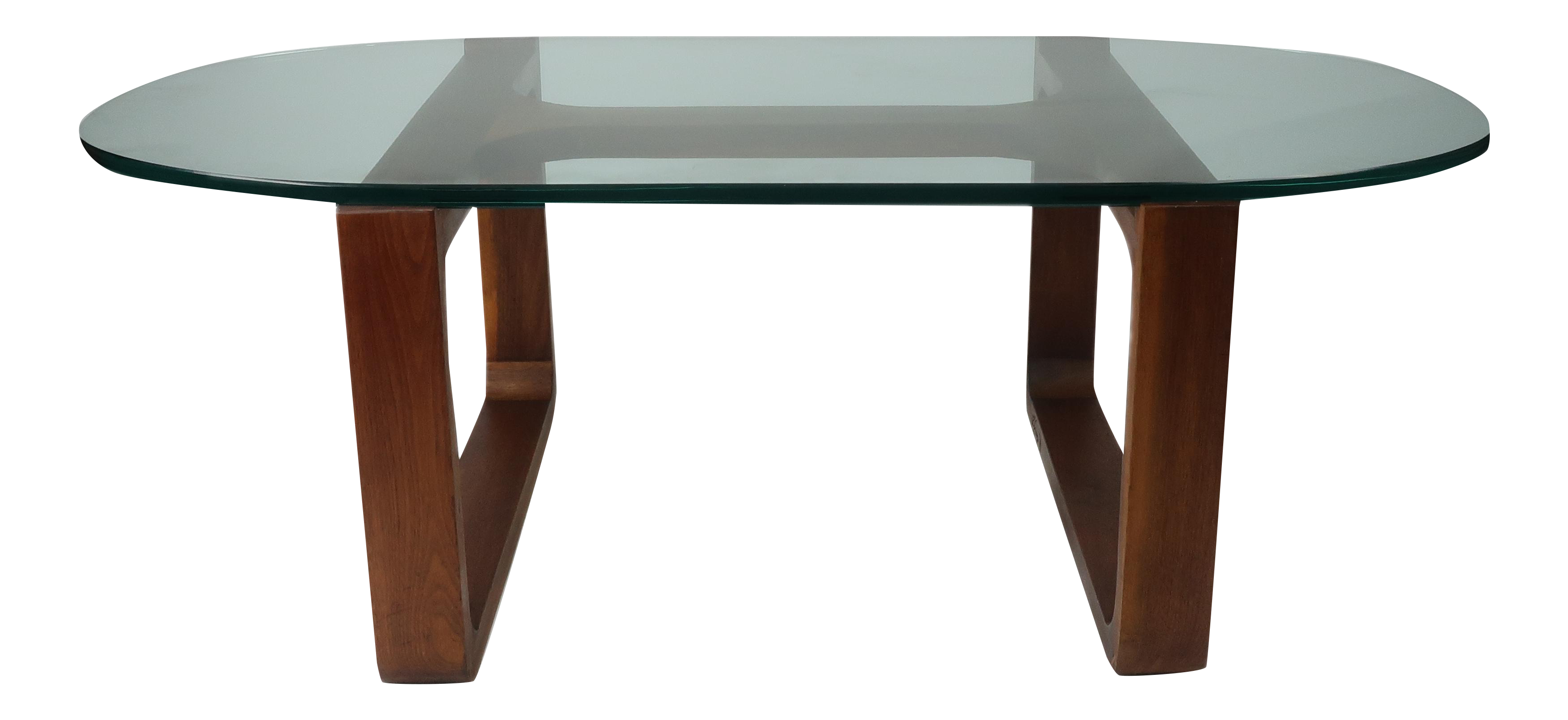 Fred camp modern glass top coffee table chairish geotapseo Image collections