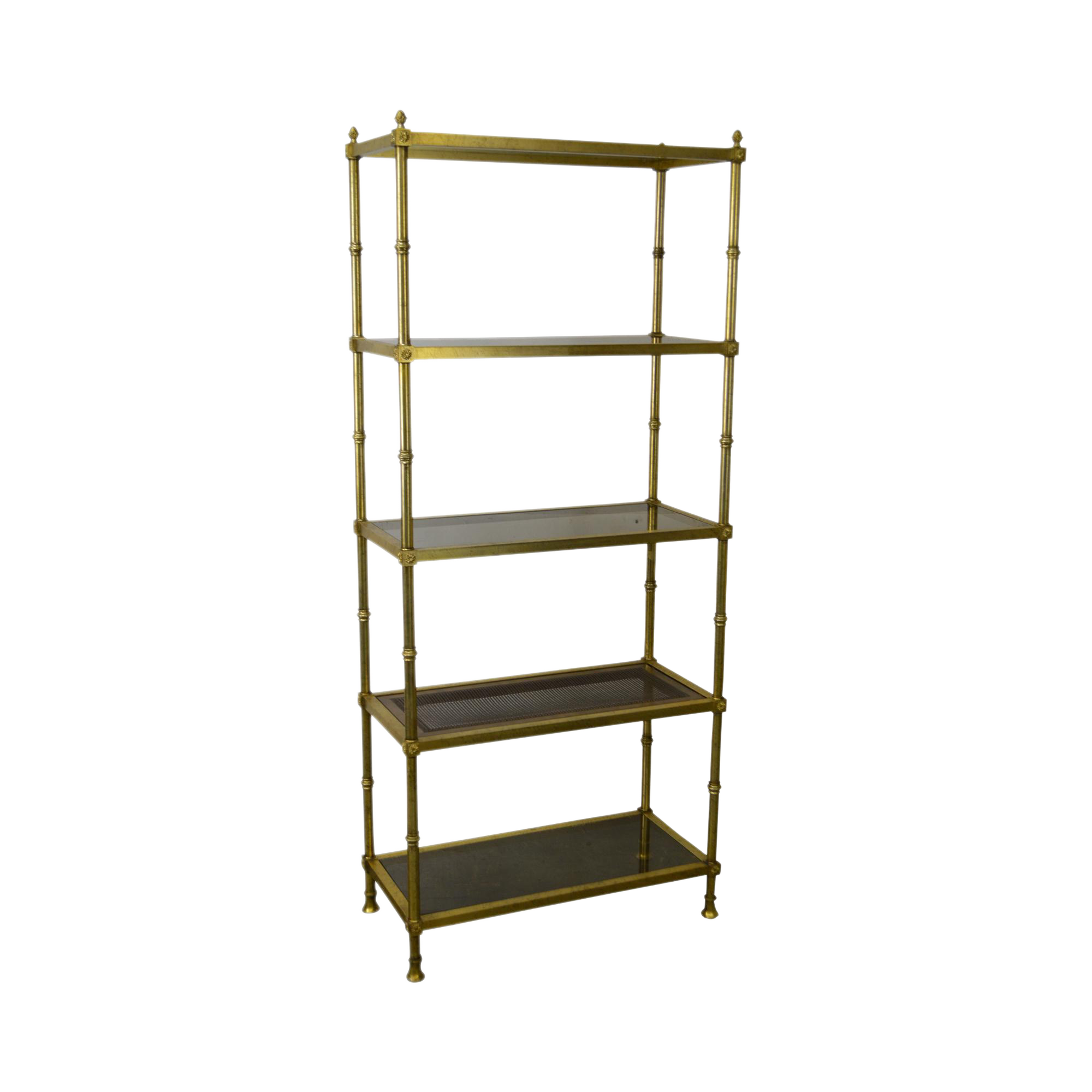 Vintage hollywood regency style gold gilt metal etagere chairish