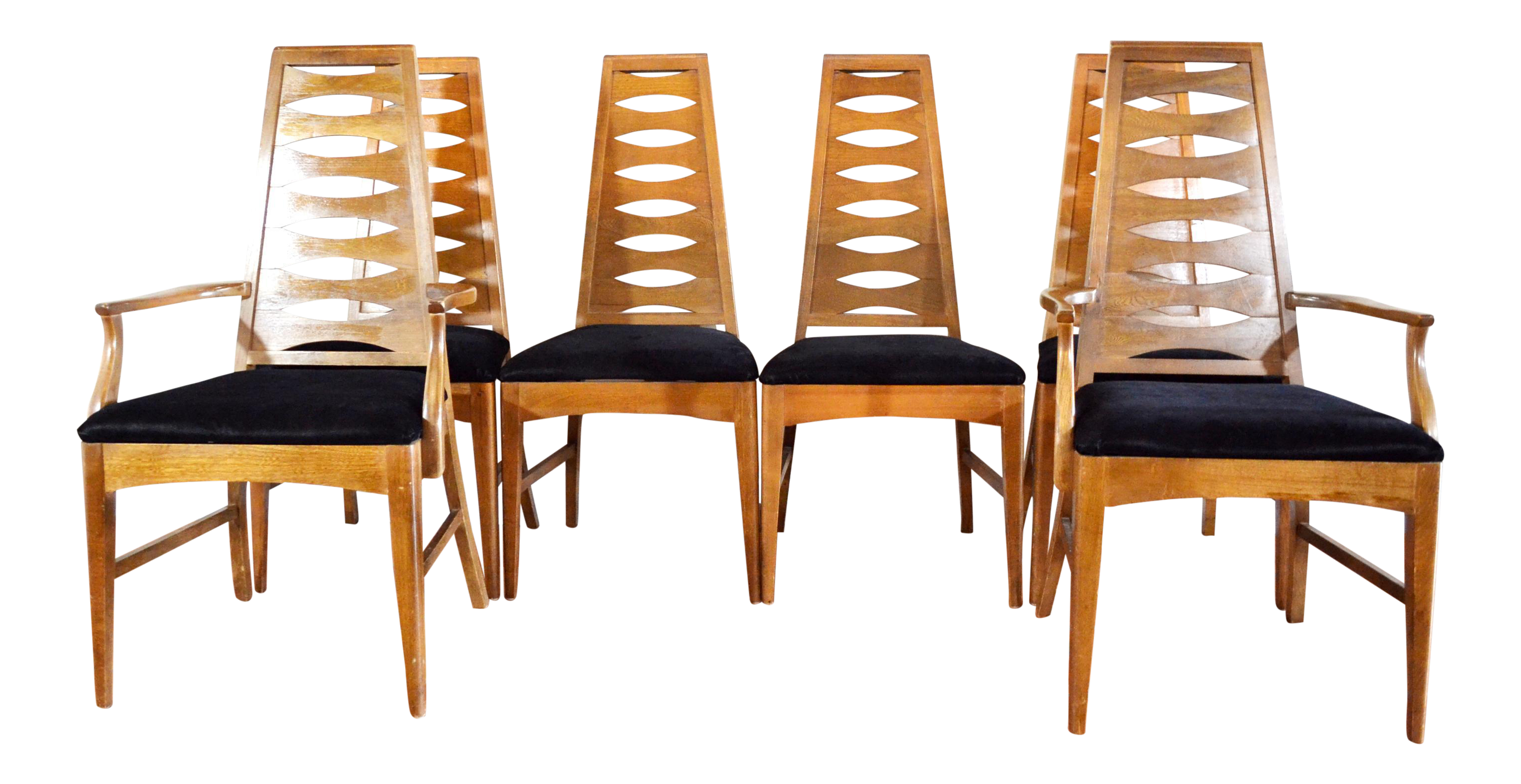 Young Manufacturing Mid Century Dining Chairs Set of 6