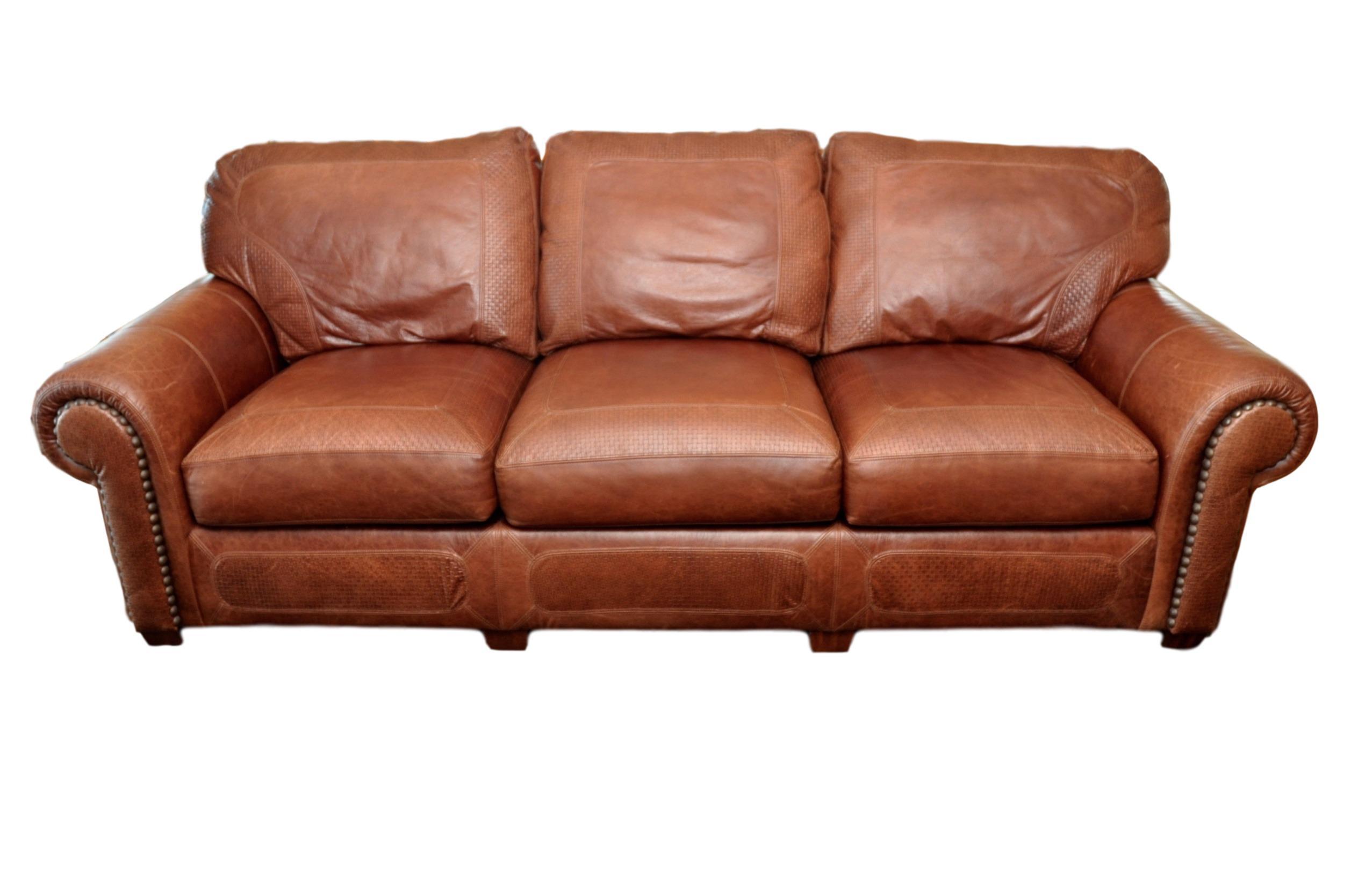 Stickley Cibola Internationale Santa Fe Style Leather Sofa