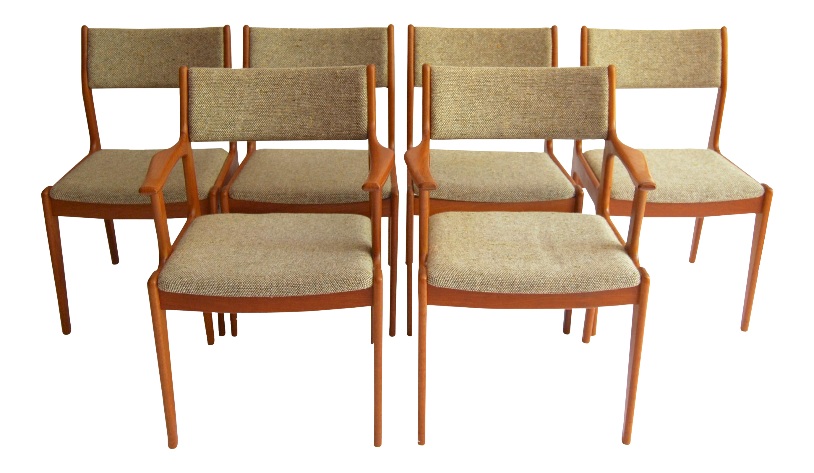 Vintage d scan mid century modern dining chairs set of 6 for Dscan dining room set