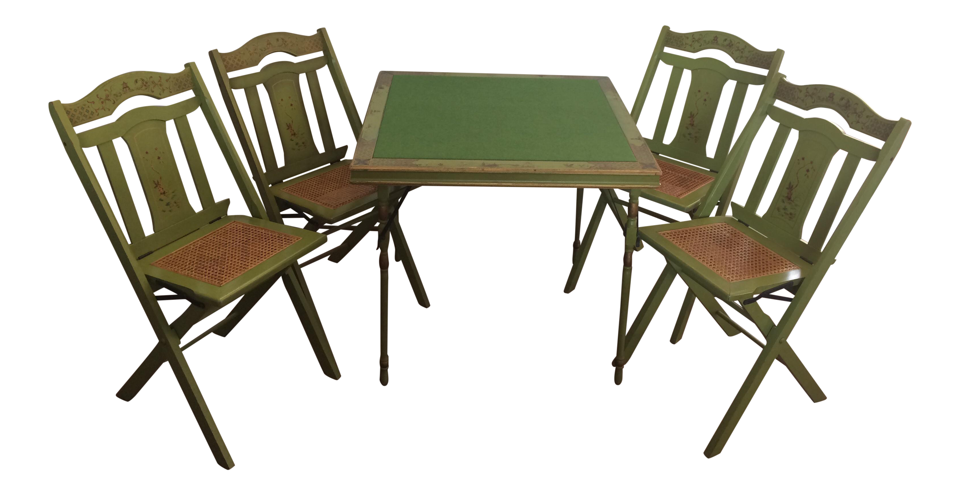 Vintage Ferguson Felt Card Table & Chairs